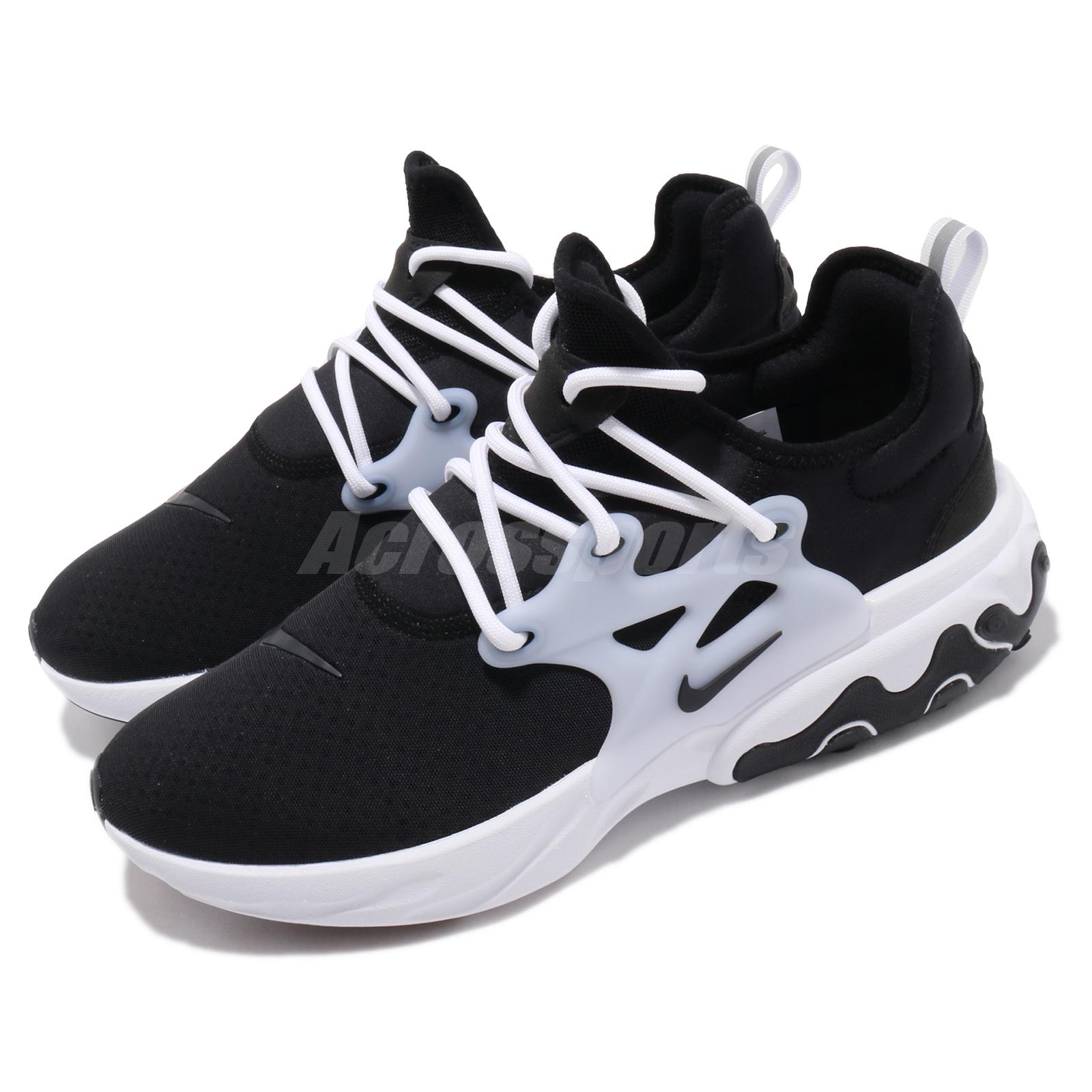 Details about Nike React Presto Black White Men Running Casual Shoes  Sneakers AV2605-003