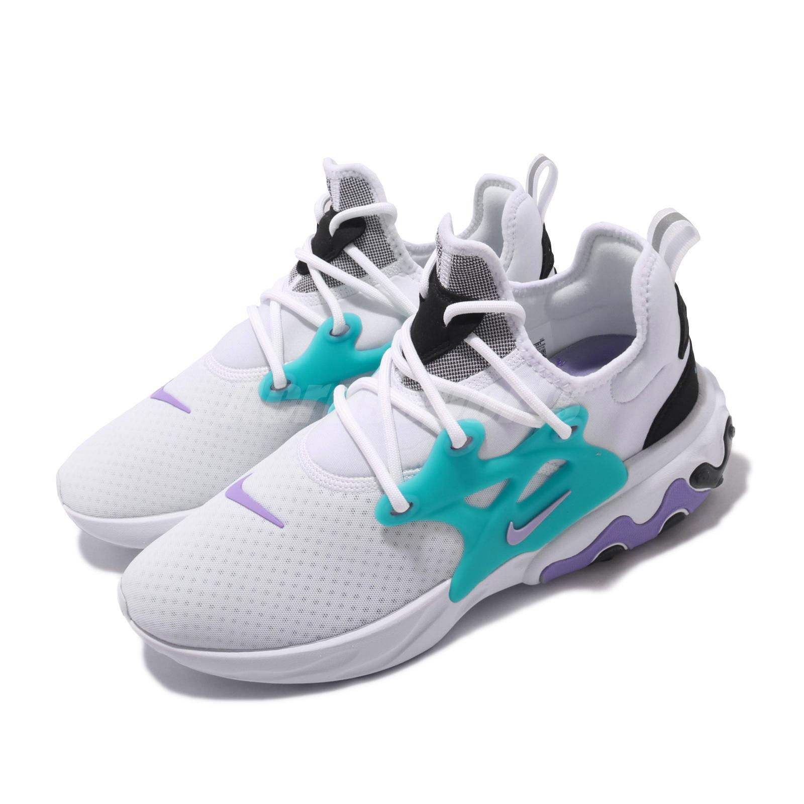 Details about Nike React Presto Cassette White Black Blue Purple Men  Running Shoes AV2605-101