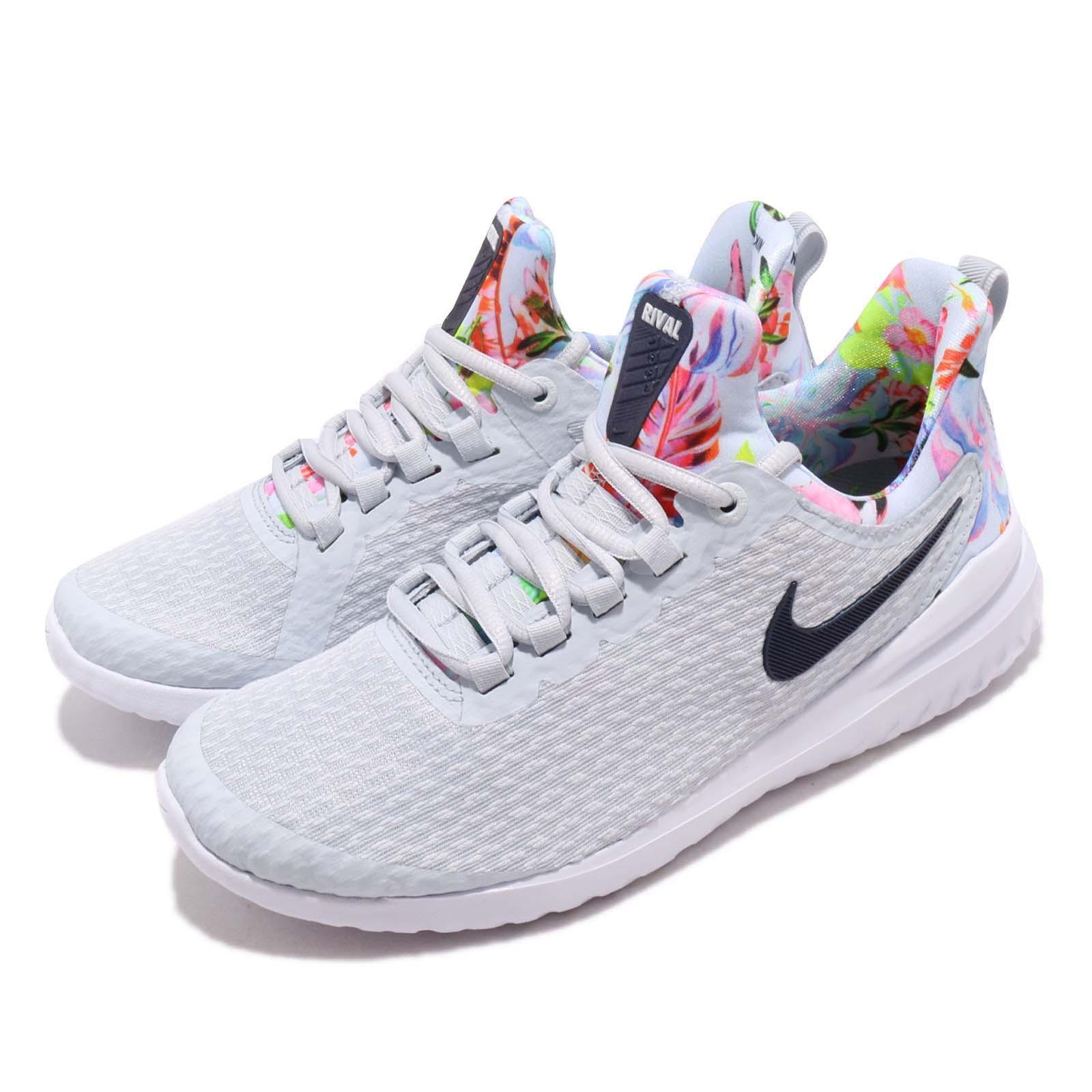 87b52fe9b Details about Nike Wmns Renew Rival Premium Floral Print Womens Running  Shoes AV2606-001