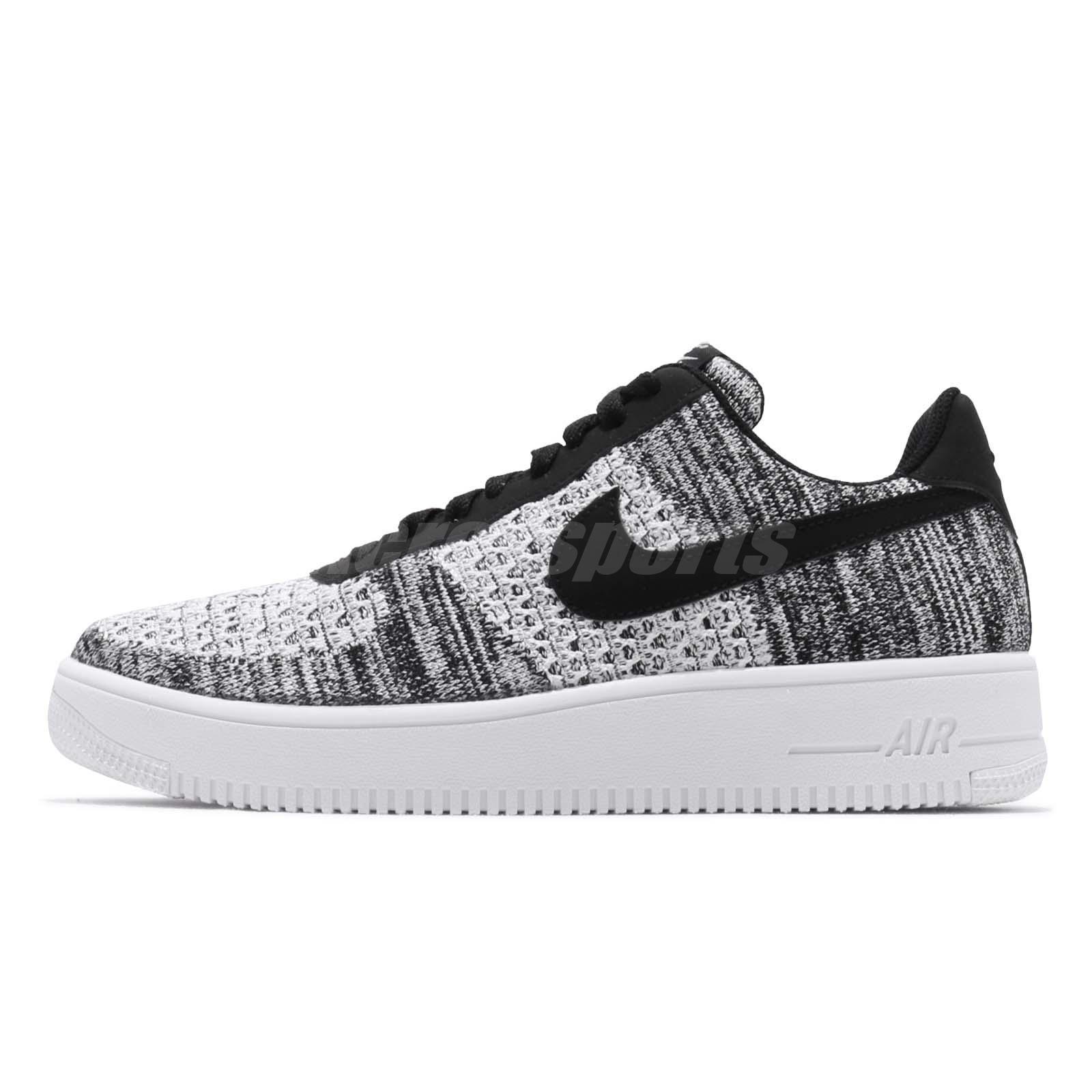 56c6d722 Nike Air Force 1 Flyknit 2.0 Black White Men Casual Shoes AF1 Sneaker  AV3042-001