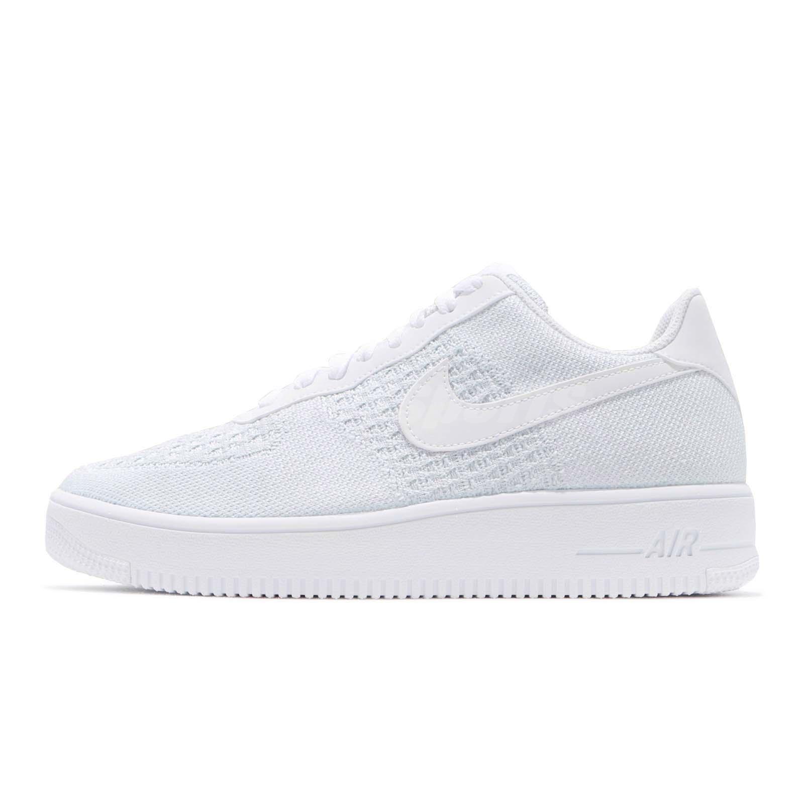 Sherlock Holmes Caña vídeo  Nike Air Force 1 Flyknit 2.0 White Pure Platinum Men Casual Shoes AF1  AV3042-100 | eBay