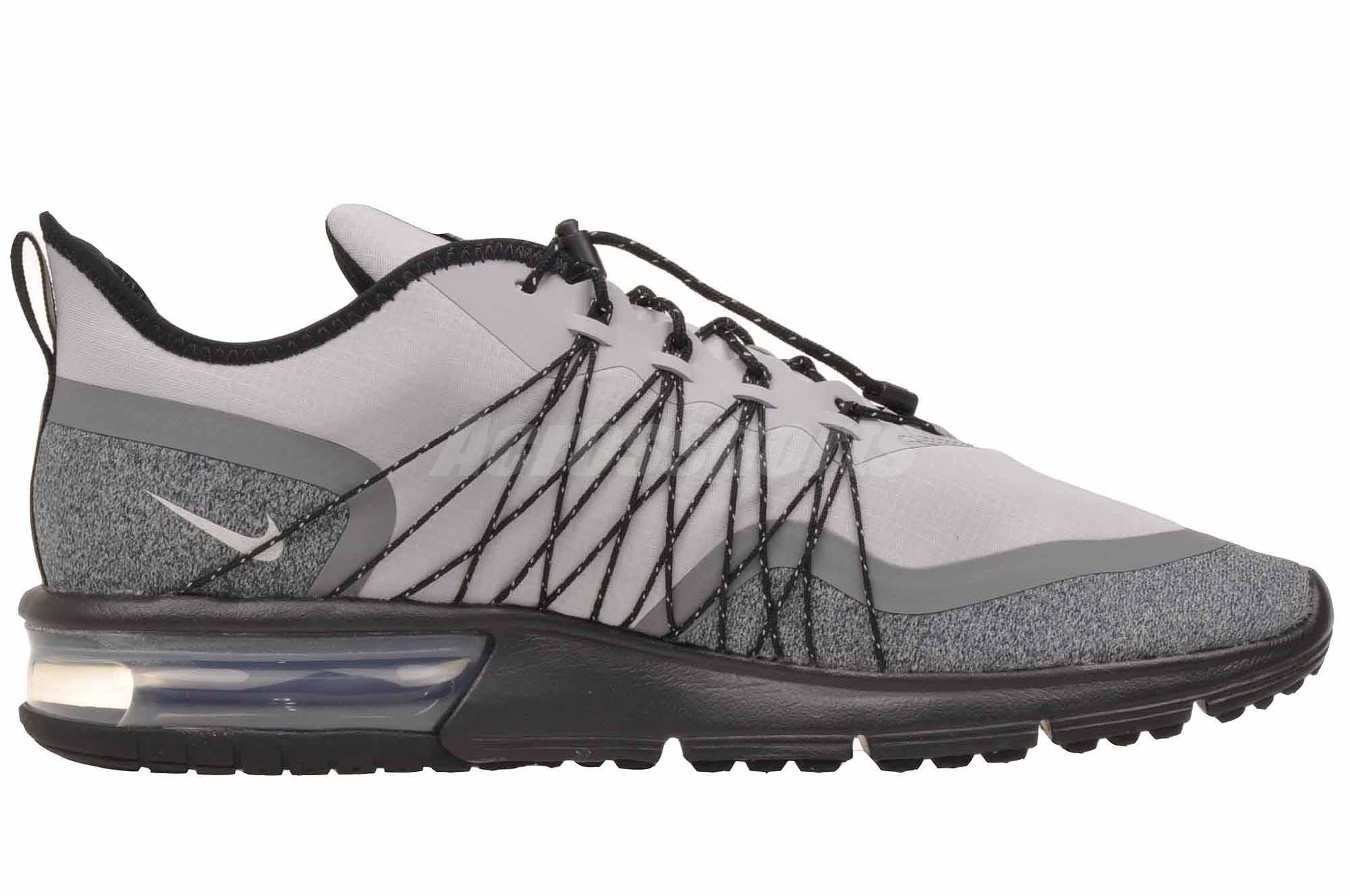 Detalles acerca de Nike Max Sequent 4 utilidad Correr Air Zapatos para hombre Gris Lobo AV3236 003 mostrar título original