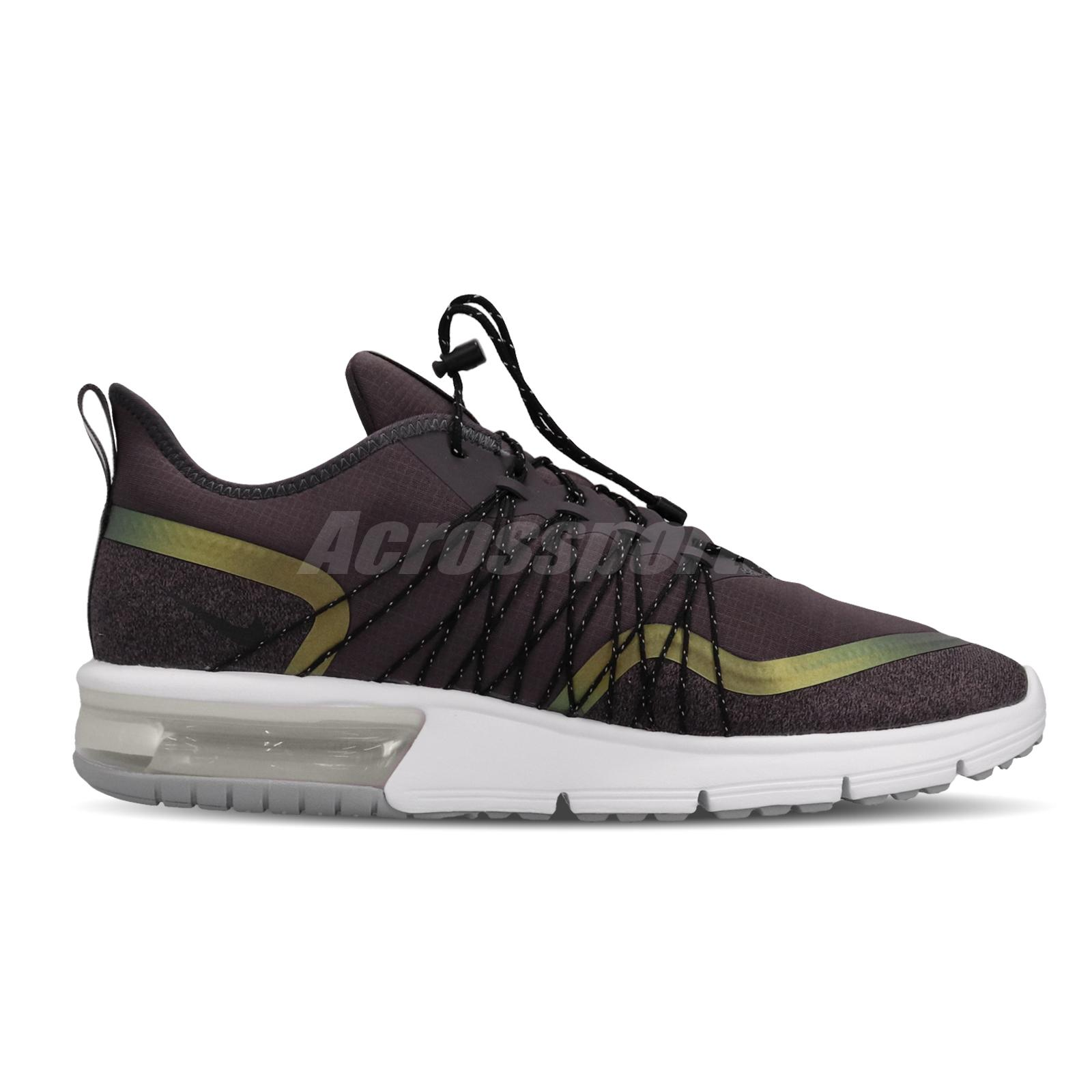 Details about Nike Air Max Sequent 4 Utility Grey Volt Glow Men Running Shoes AV3236 004