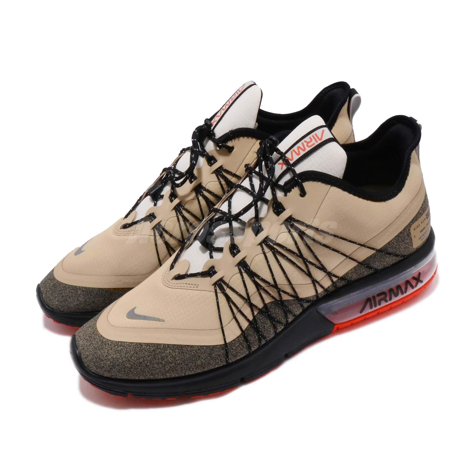 Nike Air Max Sequent 4 Utility Desert Ore Black Men Running Shoes AV3236 202