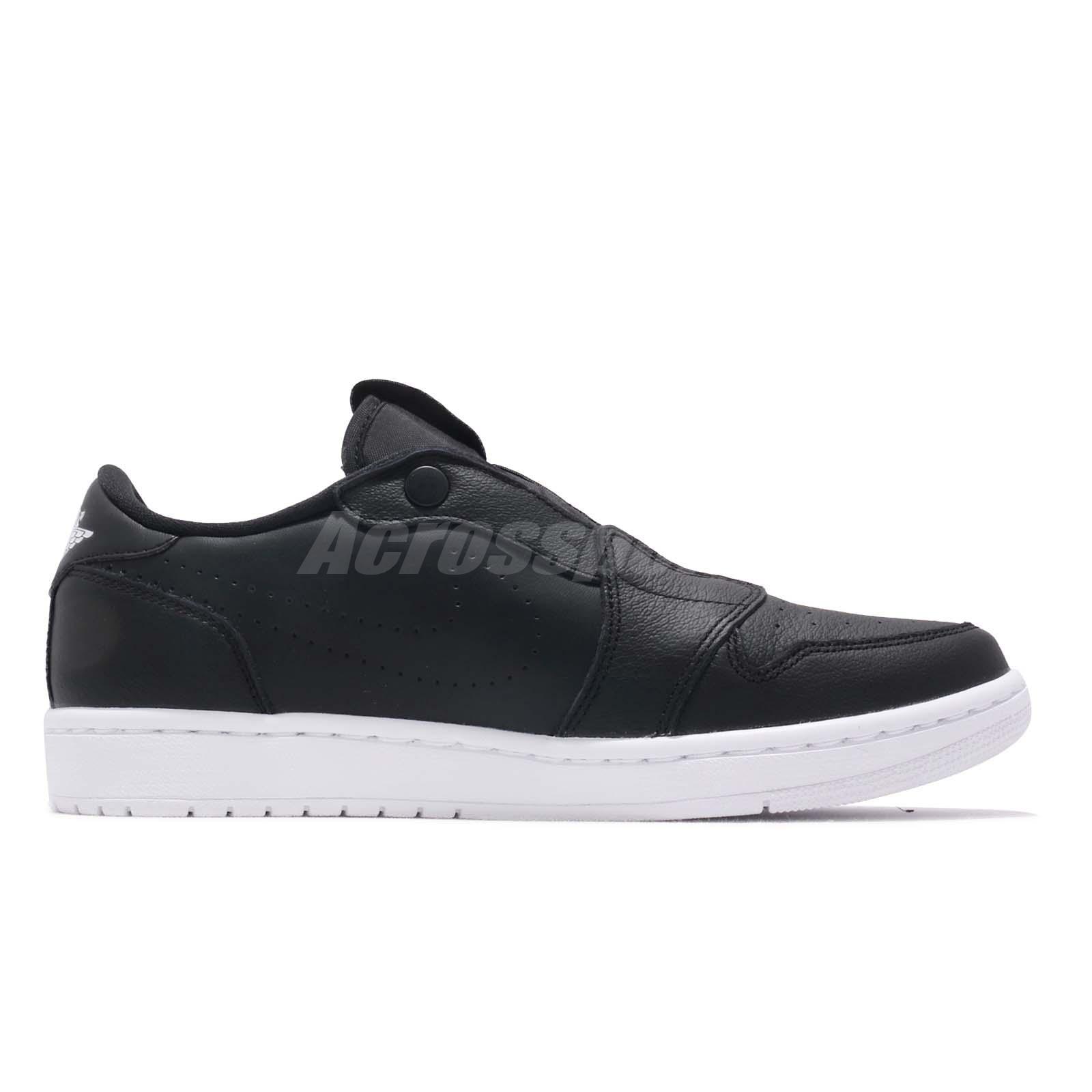 d86b68f8a7b Nike Wmns Air Jordan 1 RET Low Slip On I AJ1 Black White Women Shoes ...