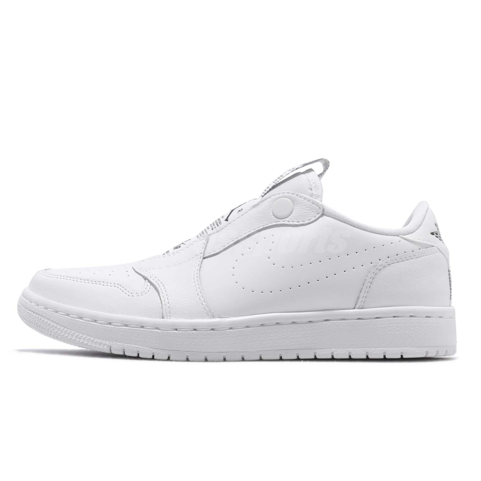 ff9c6f4d71f3 Nike Wmns Air Jordan 1 RET Low Slip On I AJ1 White Black Women Shoes AV3918- 100
