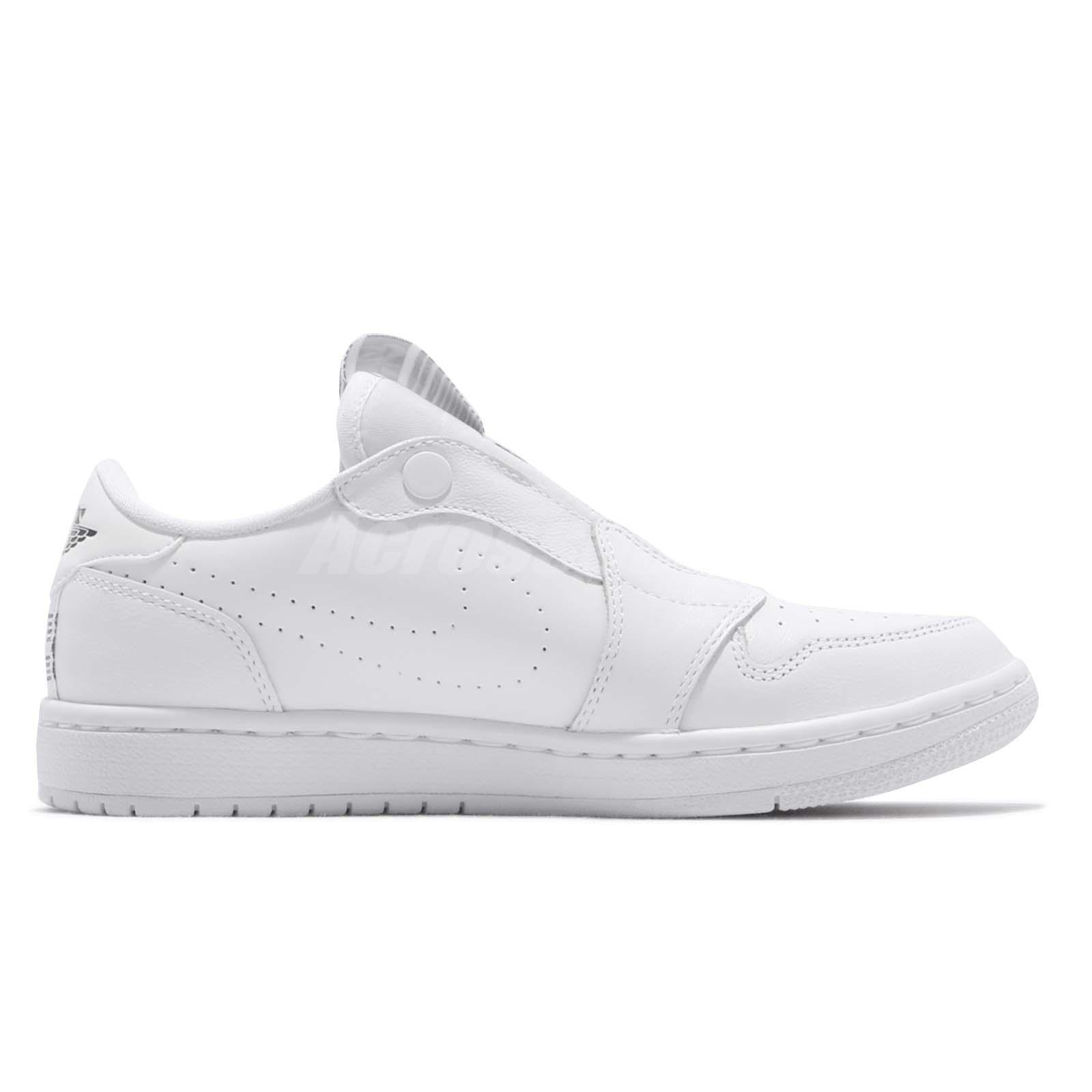 bedcf6b15243 Nike Wmns Air Jordan 1 RET Low Slip On I AJ1 White Black Women Shoes ...