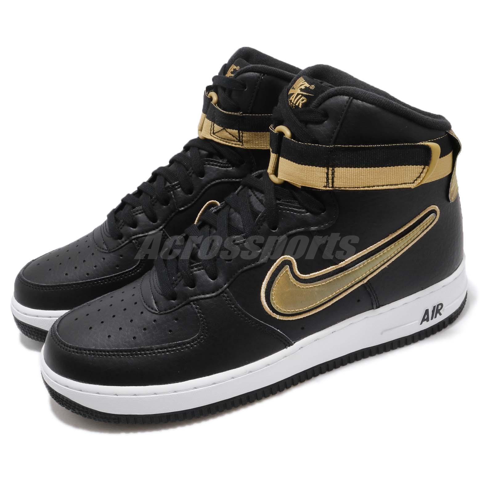 wholesale dealer 3ff05 5a8ef Details about Nike Air Force 1 High 07 LV8 Sport NBA Black Metallic Gold AF1  Men AV3938-001