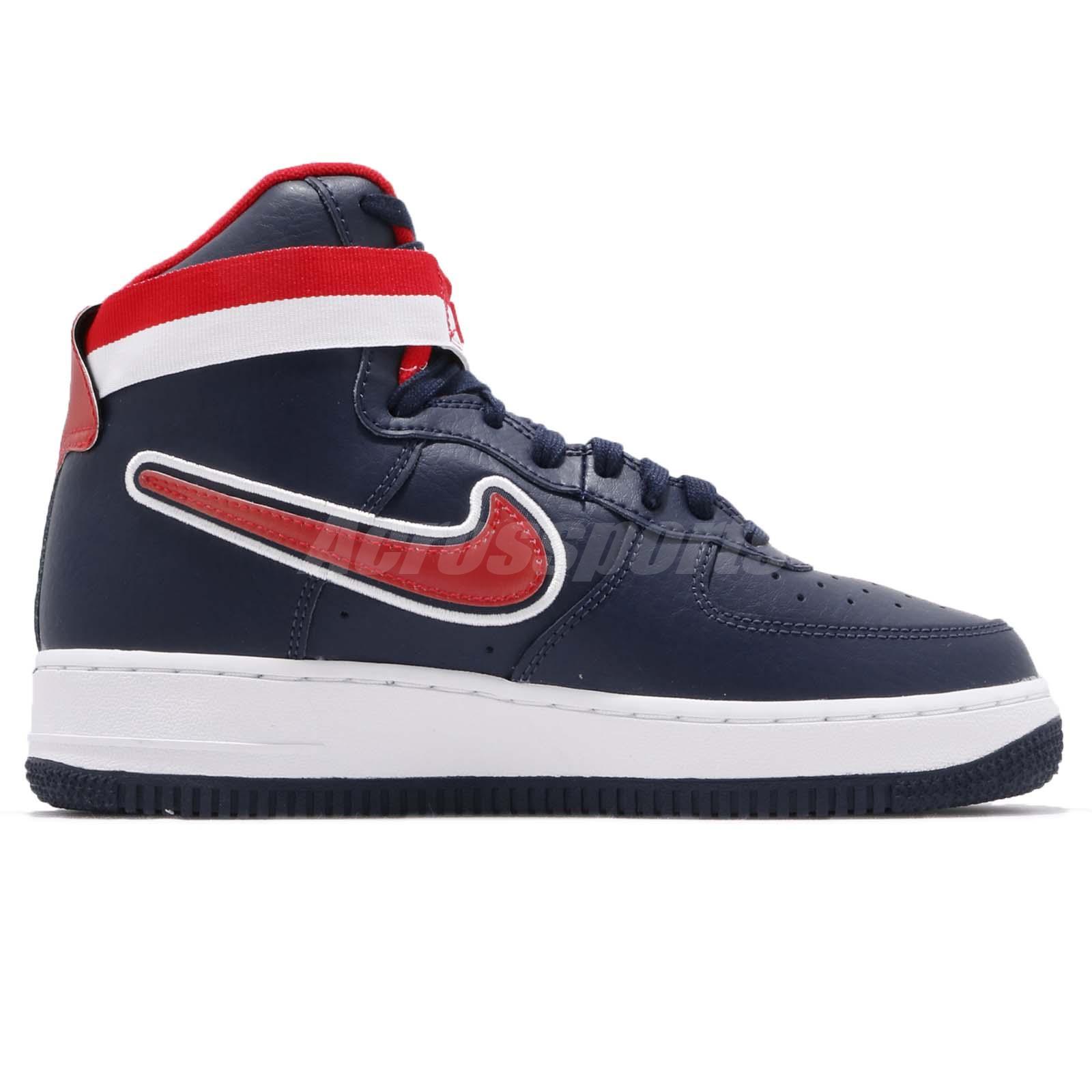 buy online 4ddff 83dc3 Nike Air Force 1 High 07 LV8 Sport AF1 USA Navy Red Men Shoes ...