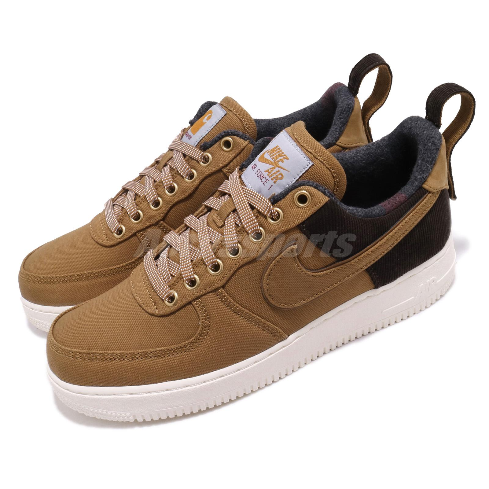 Brown Nike Air Force 1 Low Nike Air Easy Glow Light For Kids With ... f6a66005b