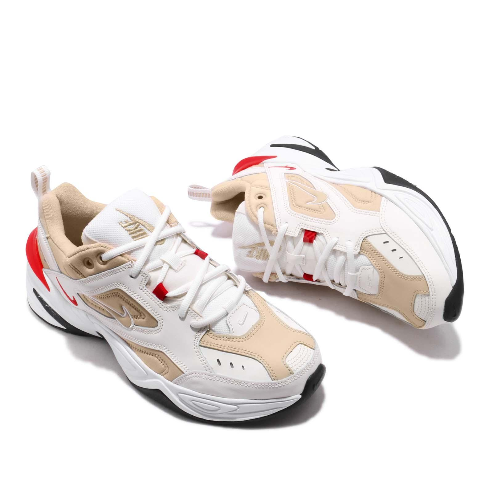 c84be07847a4 Nike M2K Tekno Sail Habanero Red Mens Daddy Shoes Chunky Sneakers ...