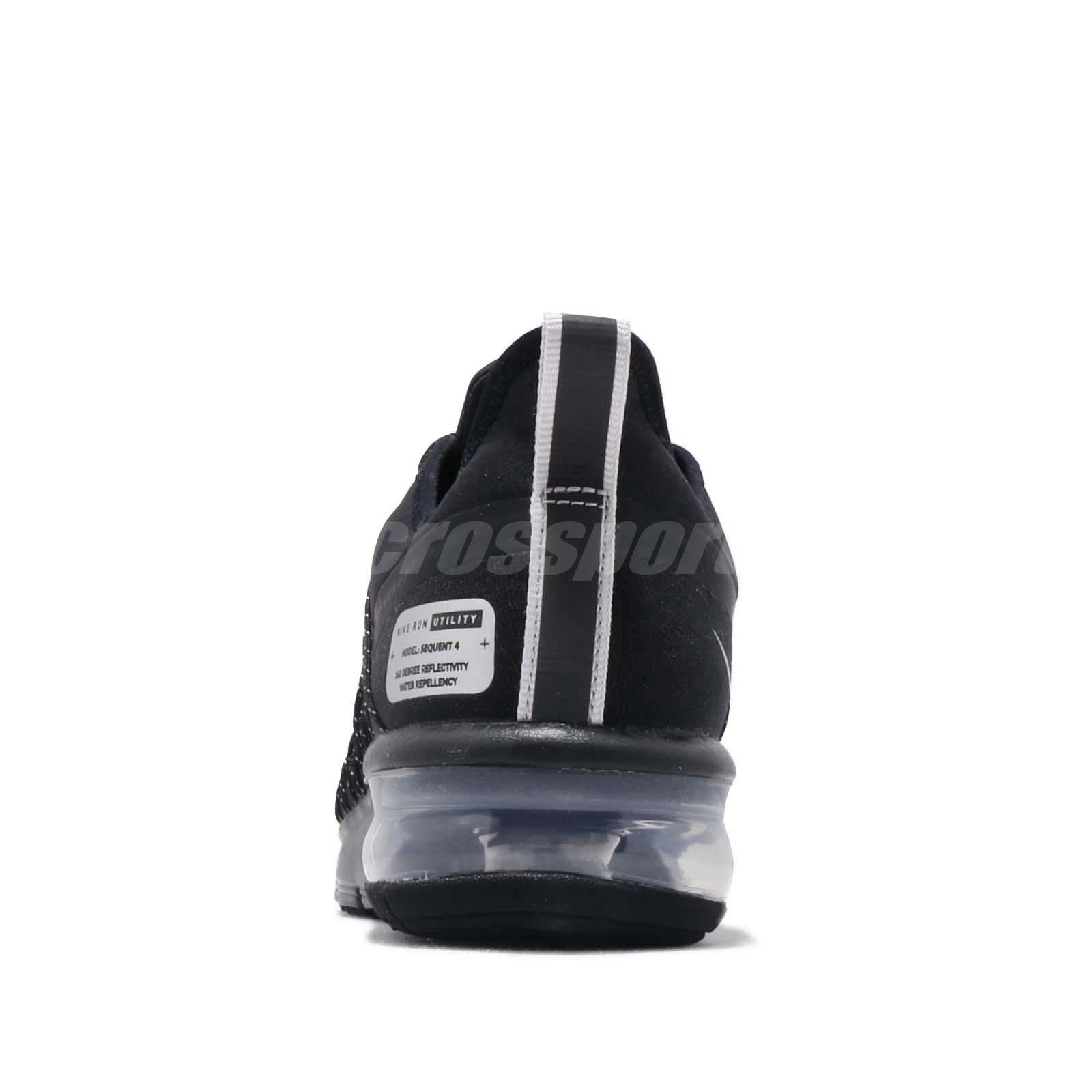 90603fa7bb Nike Wmns Air Max Sequent 4 Utility Black Reflect Silver Women Shoes ...