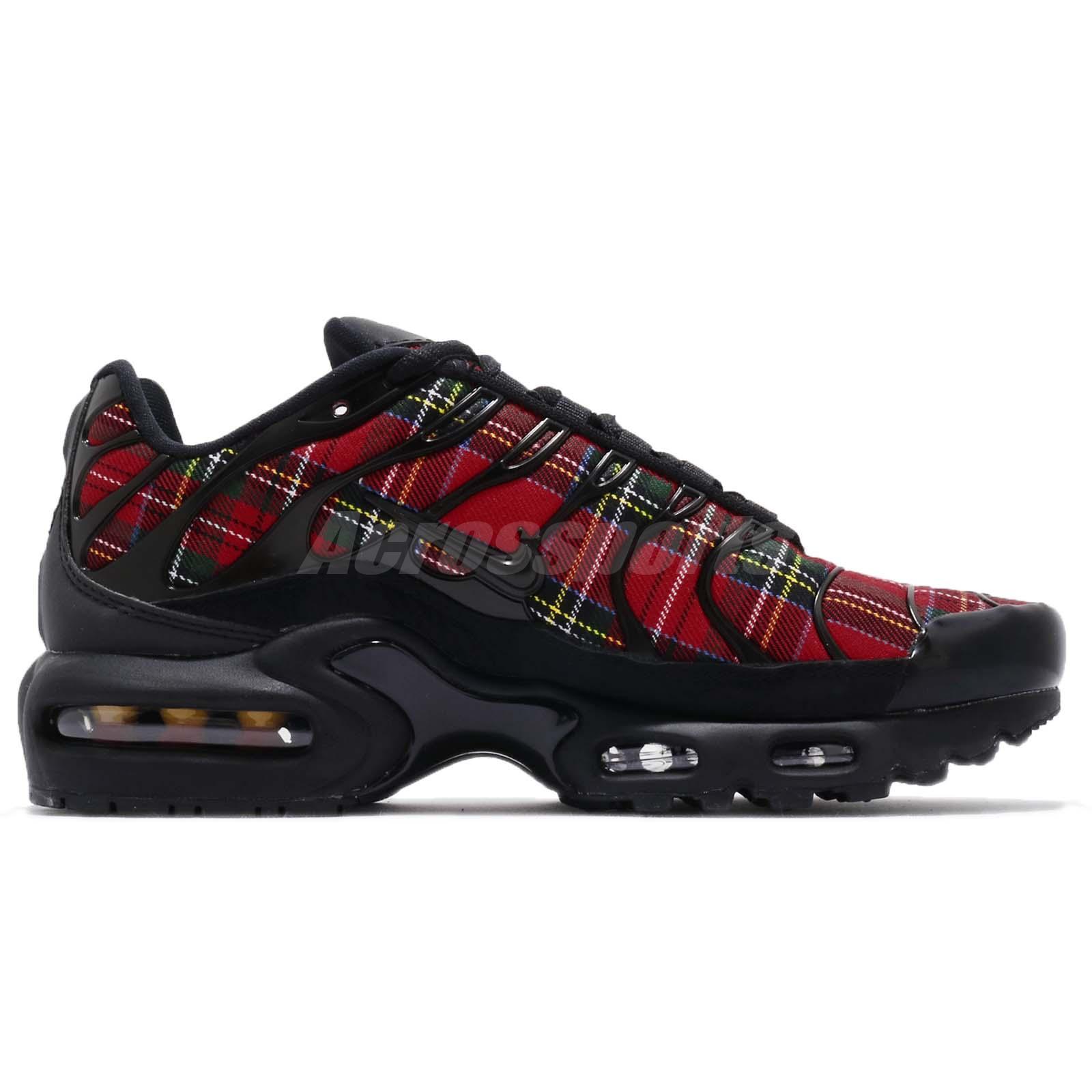 quality design 393fc 26225 Nike Wmns Air Max Plus TN SE Tartan Black Red Womens Running Shoes ...