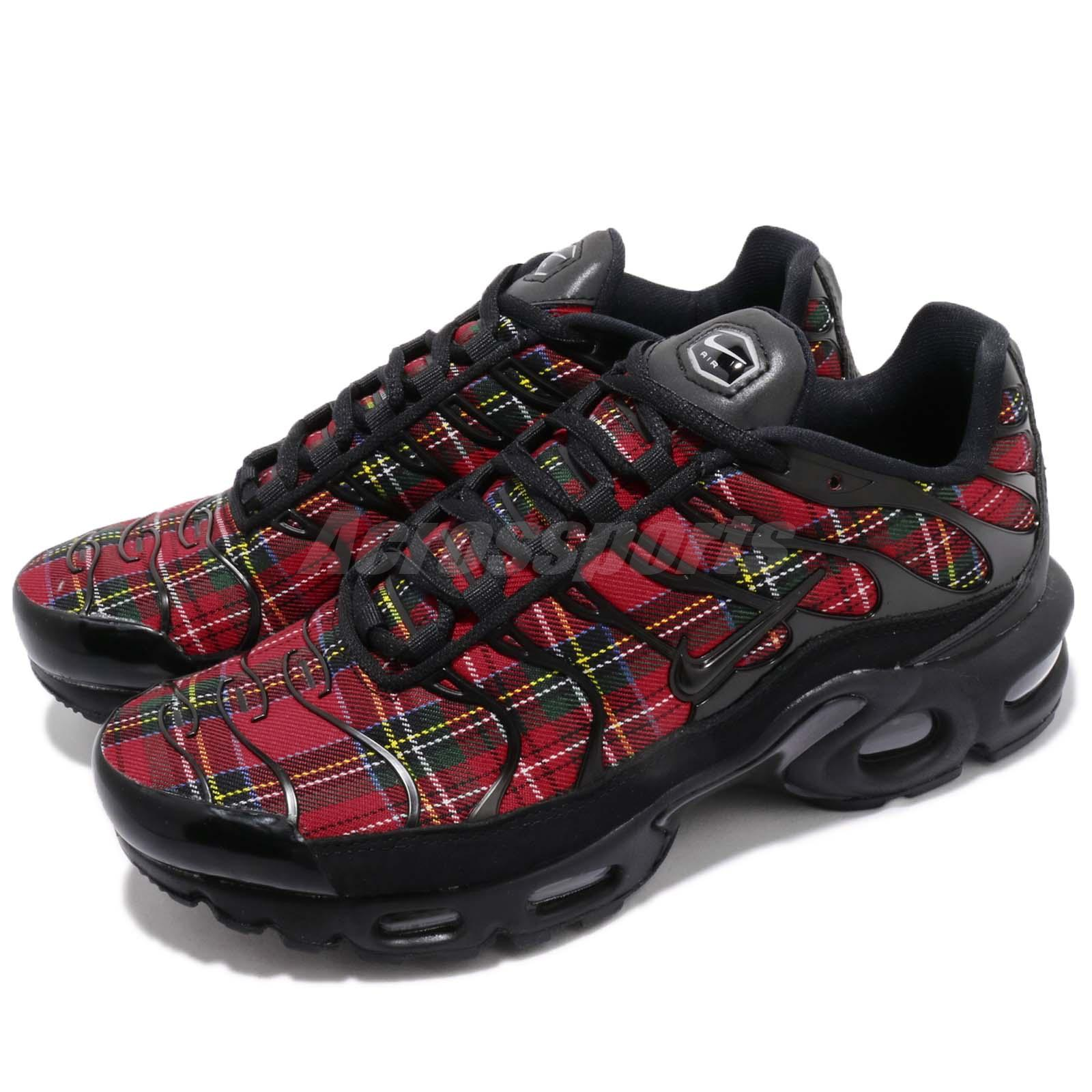 various colors c3aae 9535d Details about Nike Wmns Air Max Plus TN SE Tartan Black Red Womens Running  Shoes AV9955-001