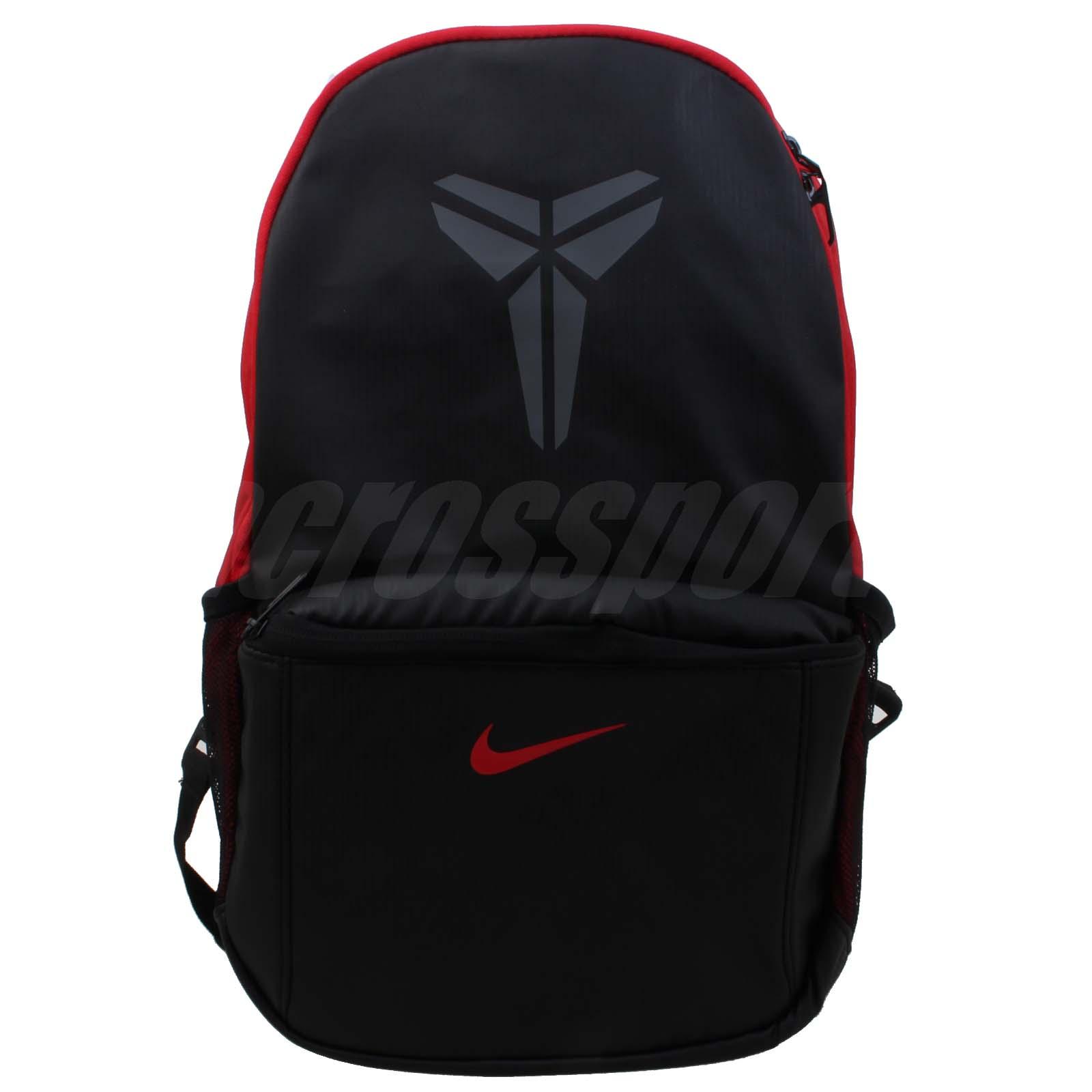 Nike Air Kobe Pattern Backpack Bryant Black Red Mens Male ...