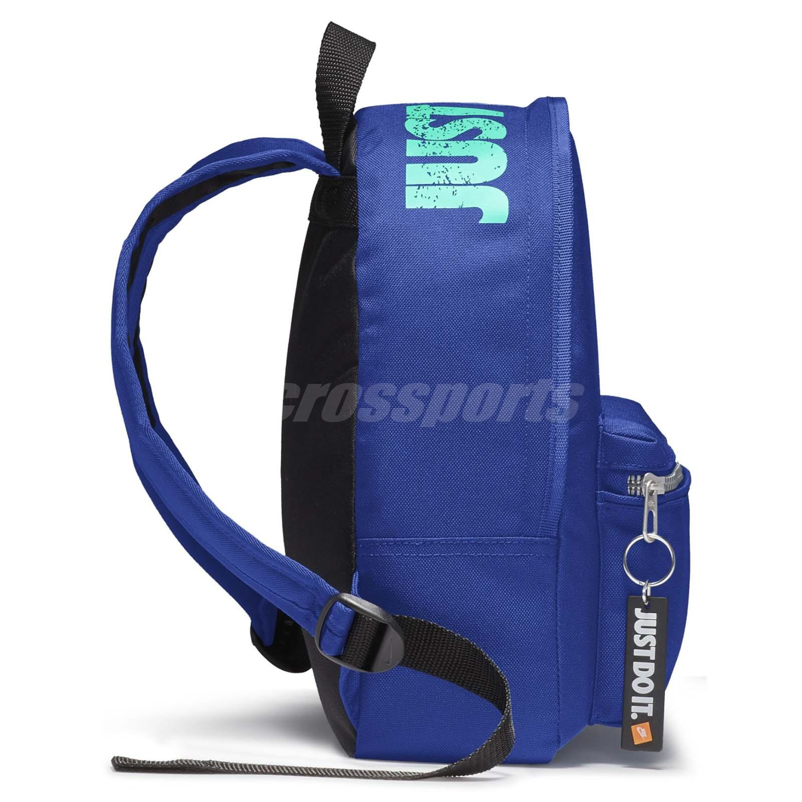 Nike kids classic mini backpack blue black sport school child bag jpg  1600x1600 Blue nike school 956125e5a5