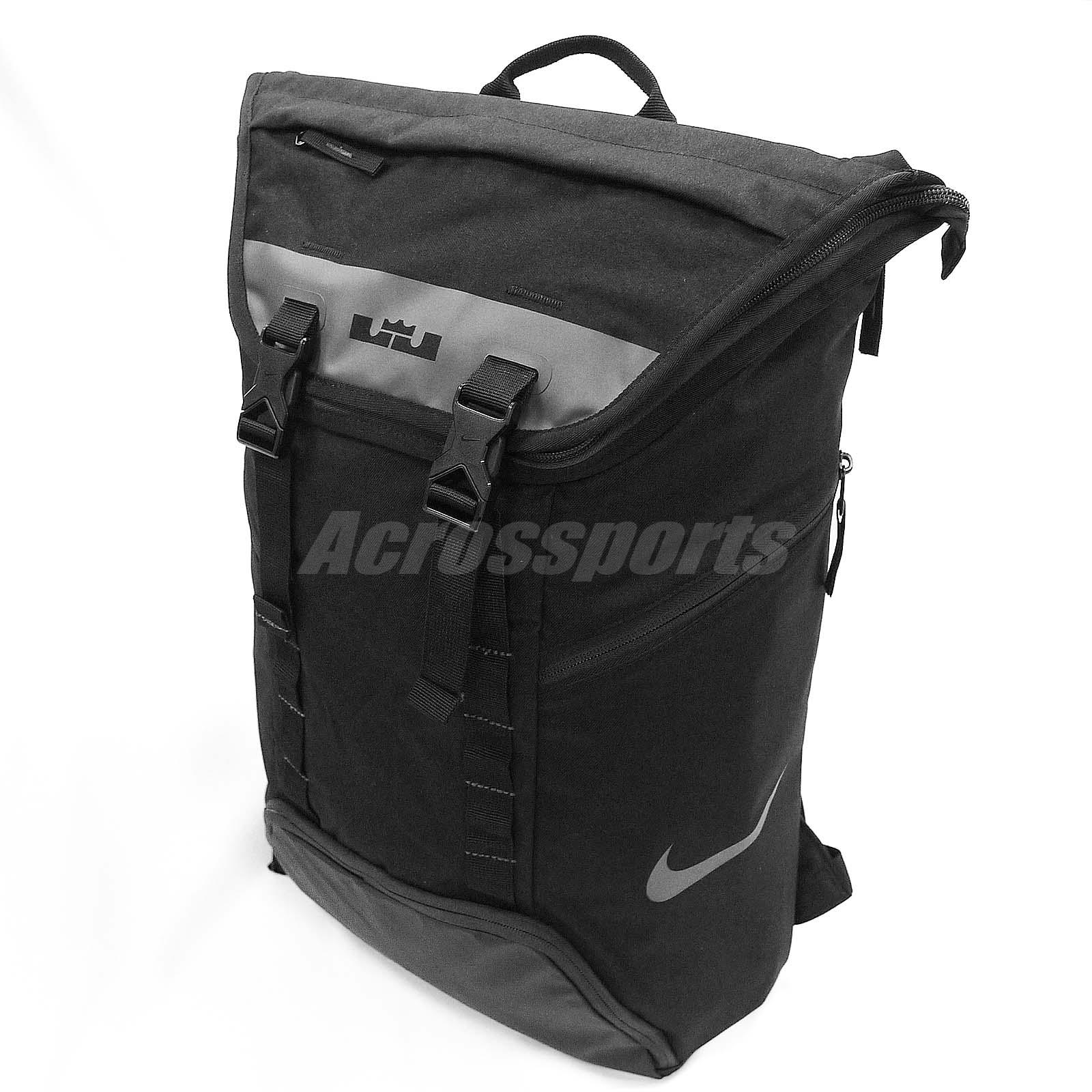22698e3c9bf0 ... Nike LeBron James Max Air Soldier Black Red LBJ Mens Backpack BA5112 .