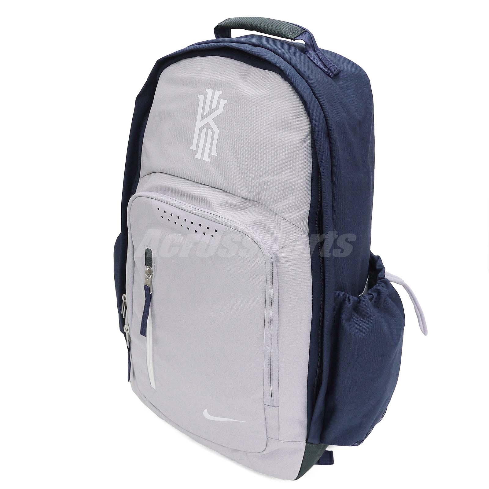 Nike Kyrie Irving Grey Navy Mens Basketball Backpack BP ...