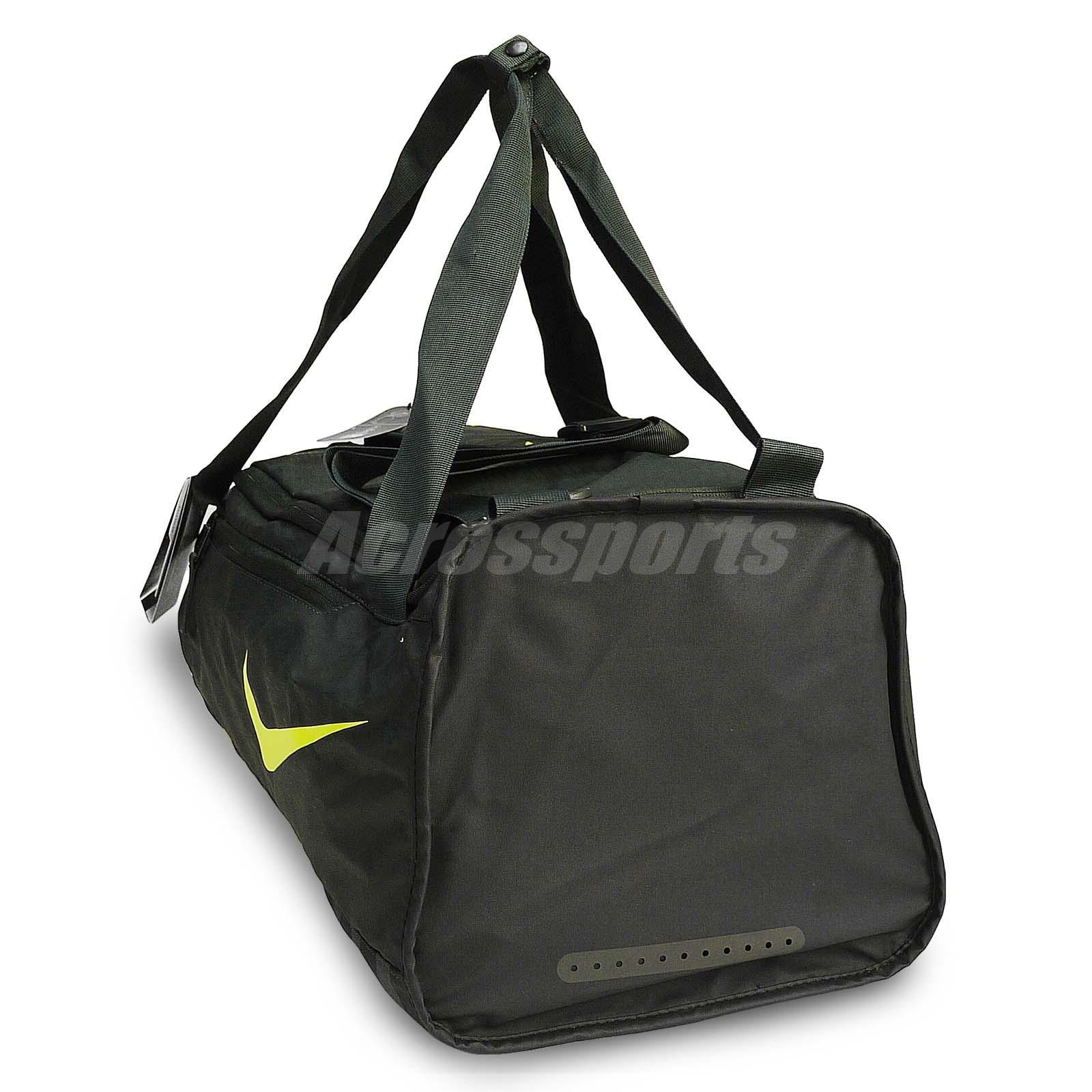 1f82dbb887d2 Nike Alpha Adapt Cross Body Small Duffel Bag Workout Gym Black Volt ...