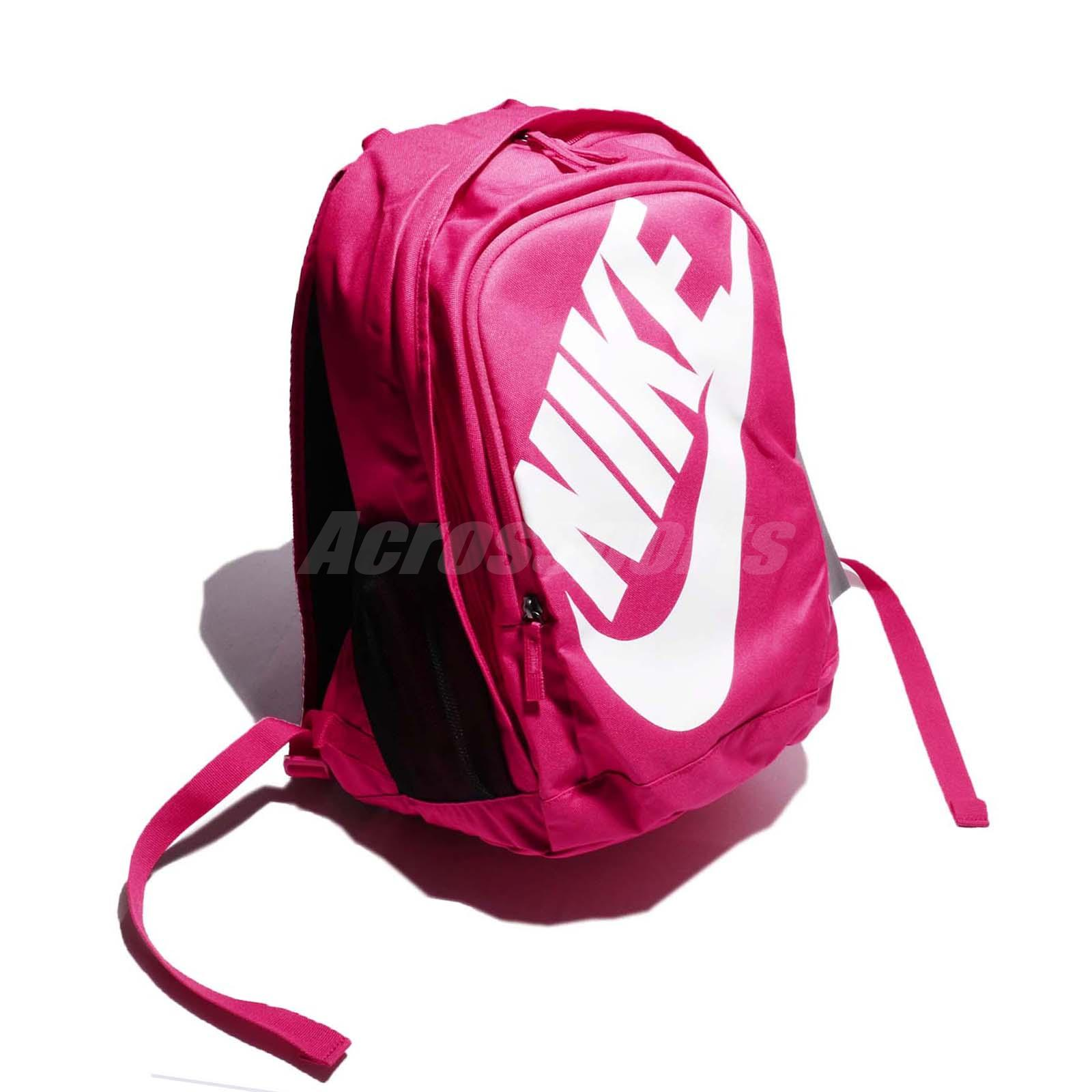 Nike Hayward Futura M 2.0 Pink White Swoosh Women Backpack Bag BA5217-694 5b4d46e35da15