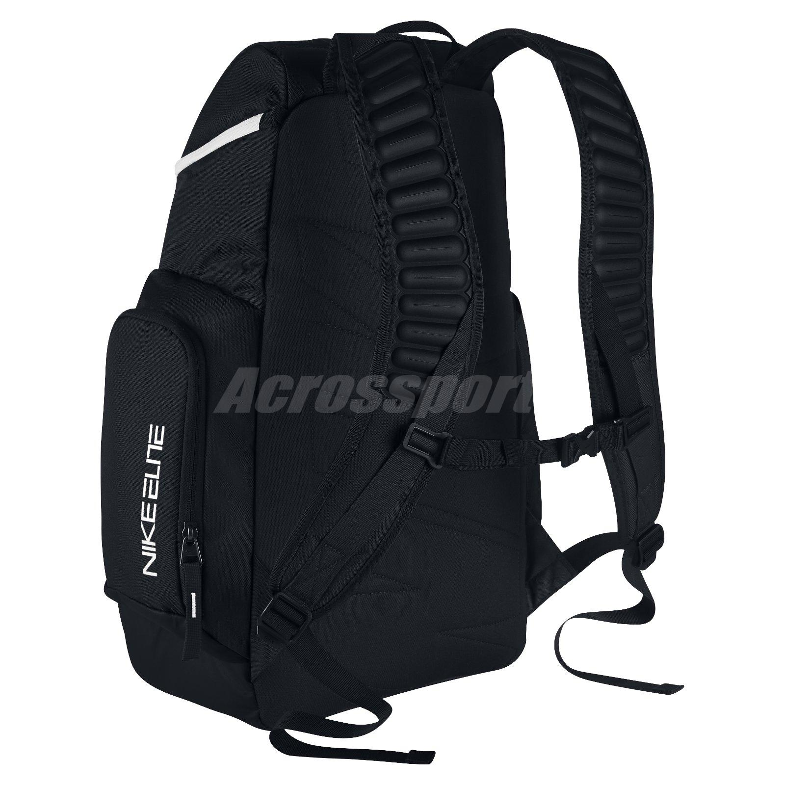 eb24ada469 Nike Hoops Elite Max Air Basketball Backpack Black White- Fenix ...