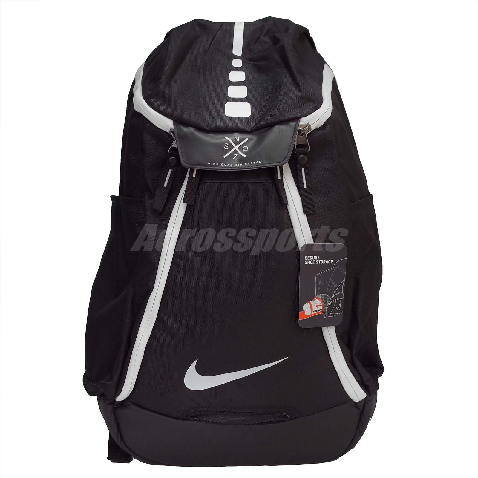 sale retailer bf158 5e3e8 Nike Hoops Elite Max Air Basketball Backpack Black White