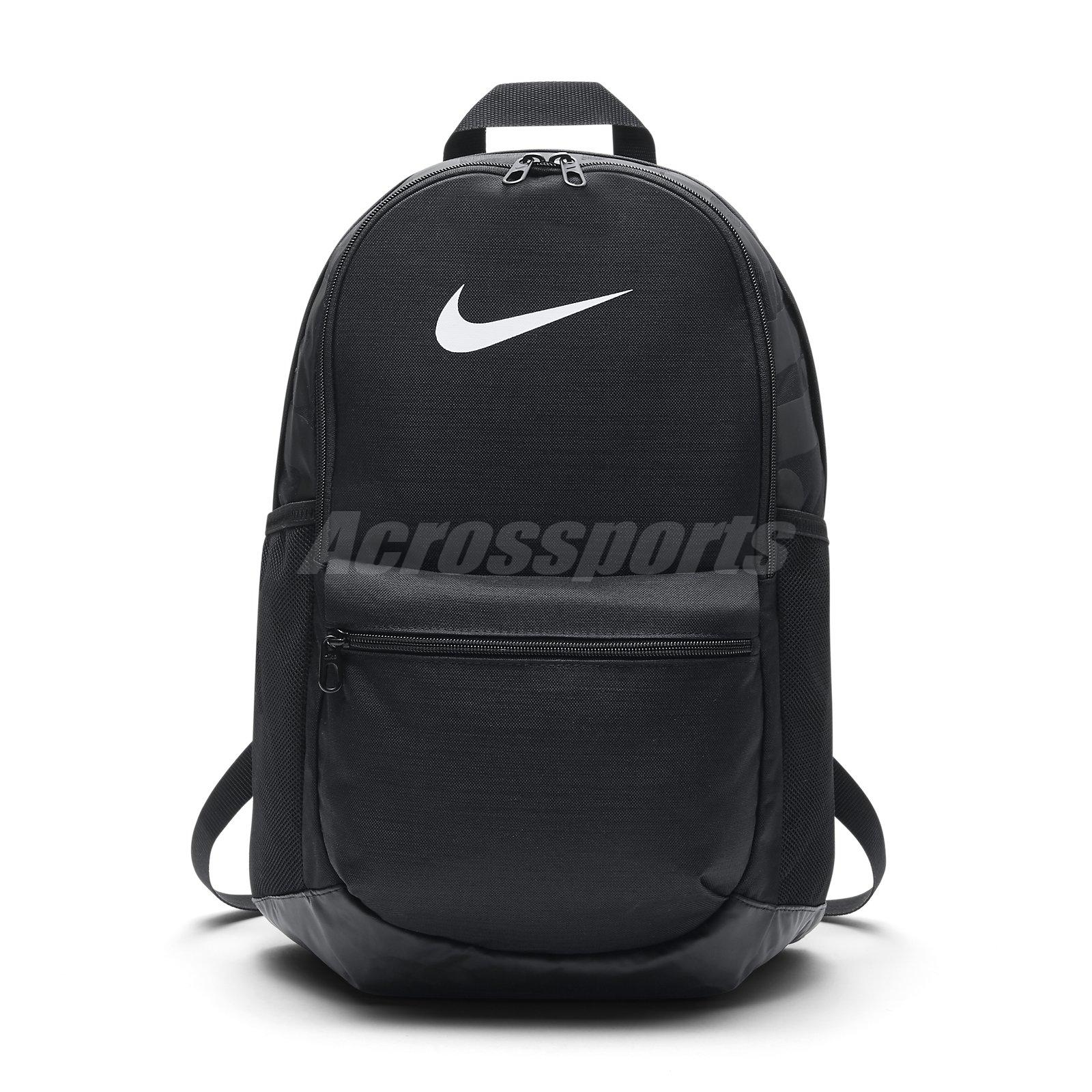 Details about Nike Unisex Brasilia Backpack Black White JDI Swoosh Sport  Book Bag BA5329-010 ae3cfb9e5175