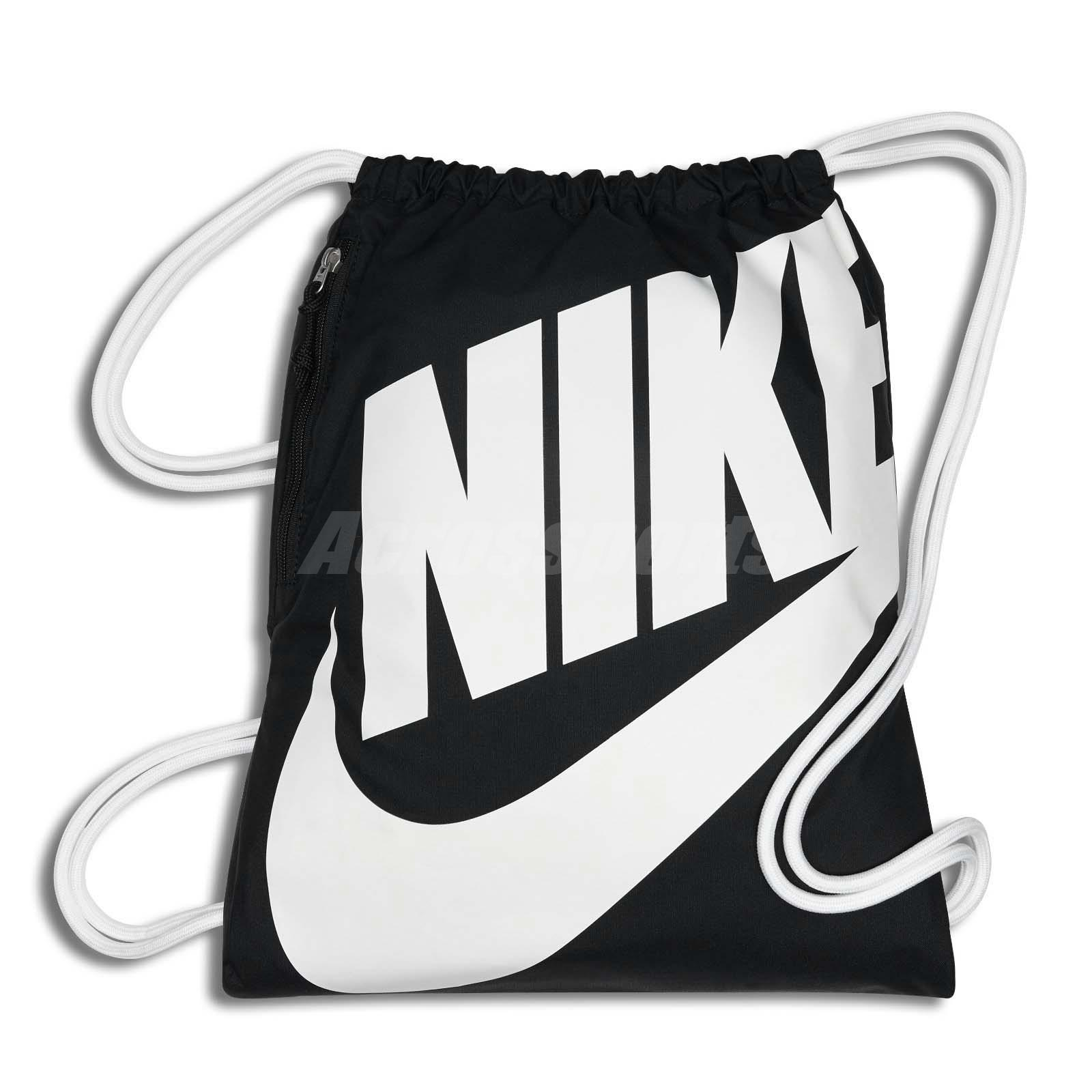 Nike Unisex Heritage Gymsack Training Running Fitness Sport Bag Black  BA5351-011 4ee3b12ebaf69