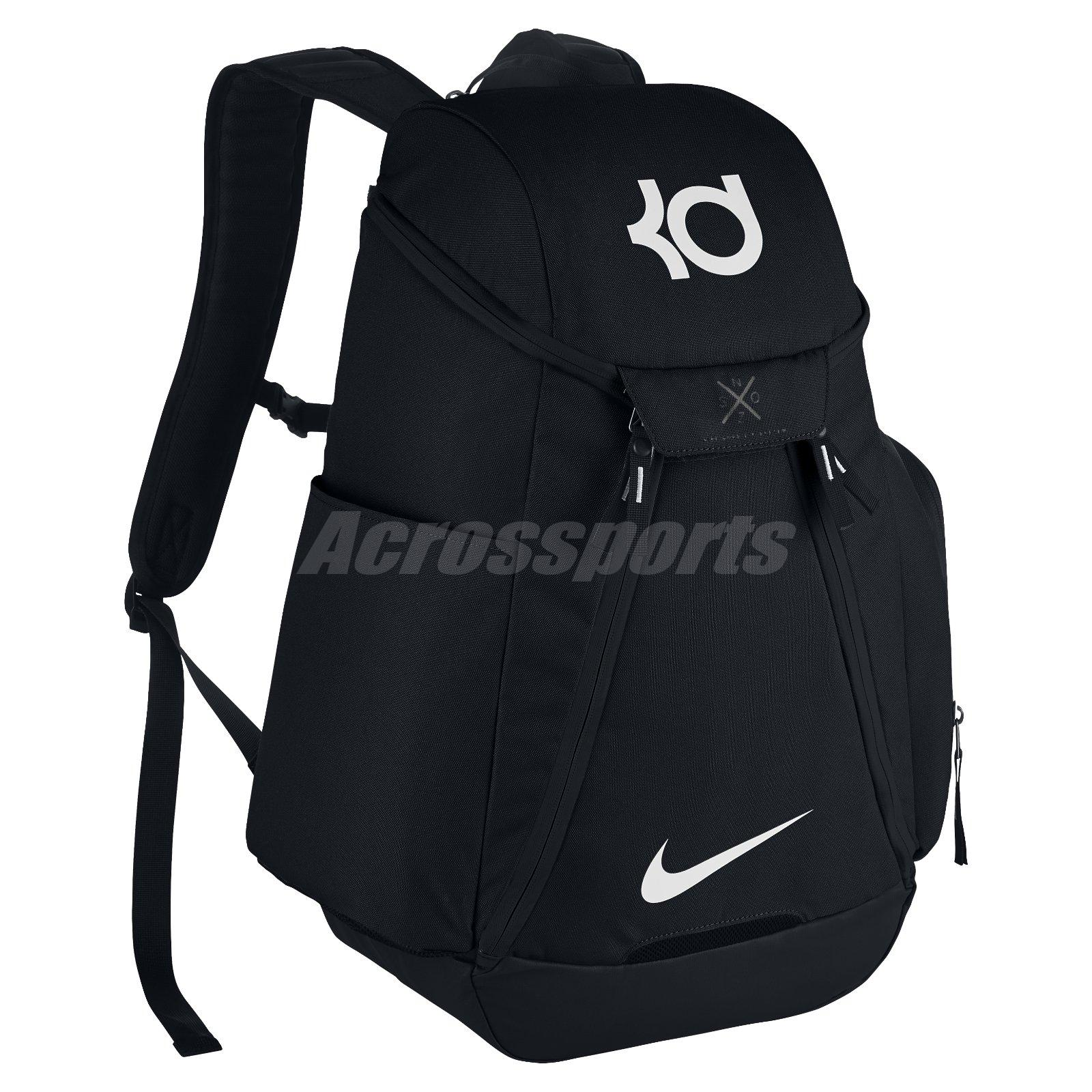 huge discount 97daa 645b3 ... Nike KD Max Air Elite Kevin Durant Black White Basketball Backpack  BA5394-010 ...