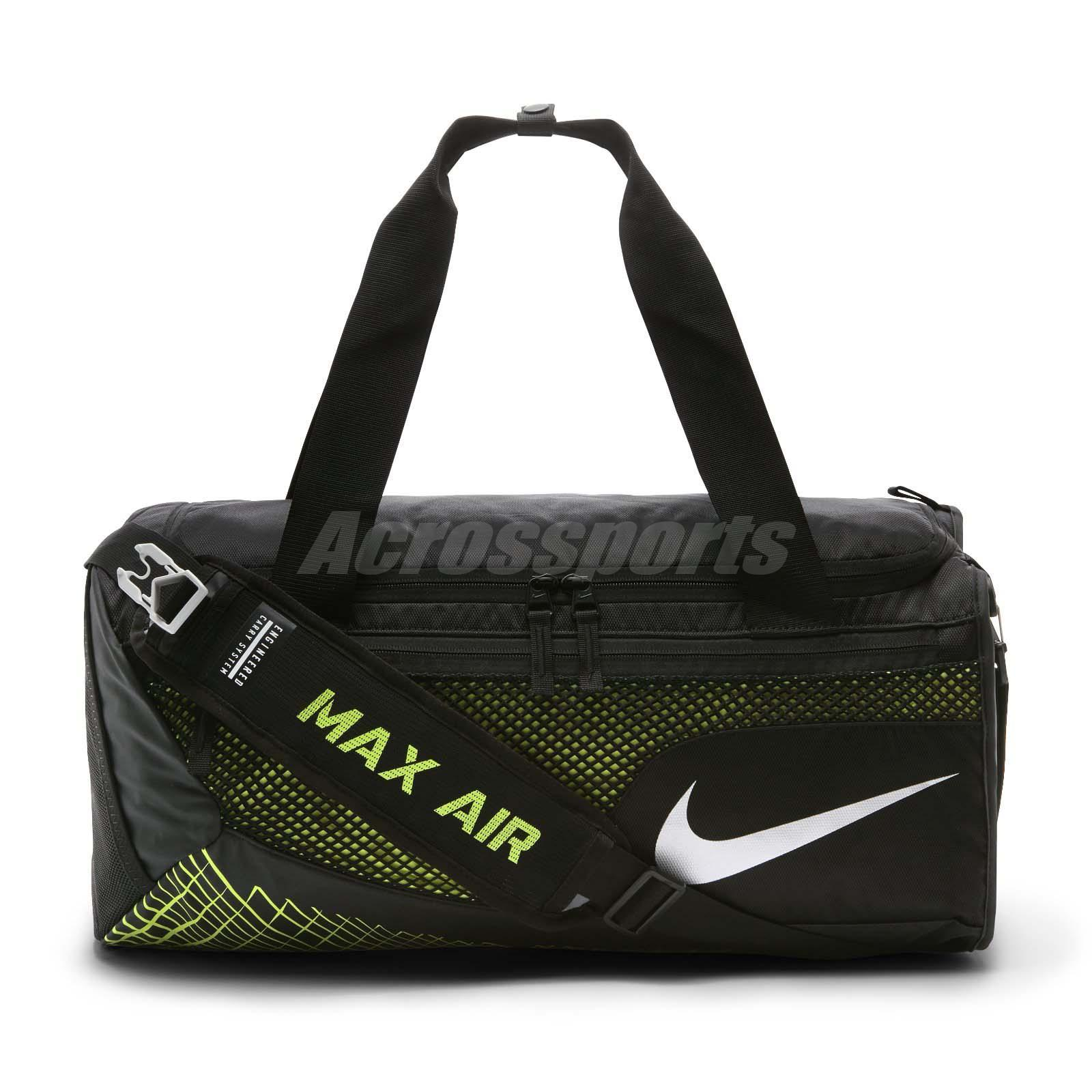 Nike Vapor Max Air Training Duffel Bag Black Volt Gym Training Sports  BA5478-010 8dde556f971bb