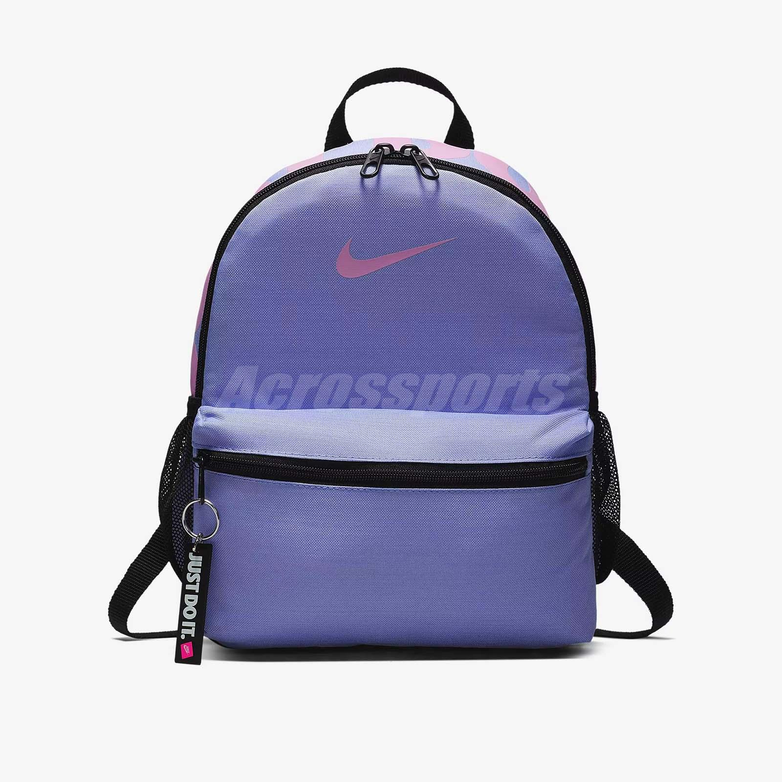 Details about Nike Unisex Brasilia Just Do It Kids Mini Backpack Purple  Black BA5559-477 071d69e7afef