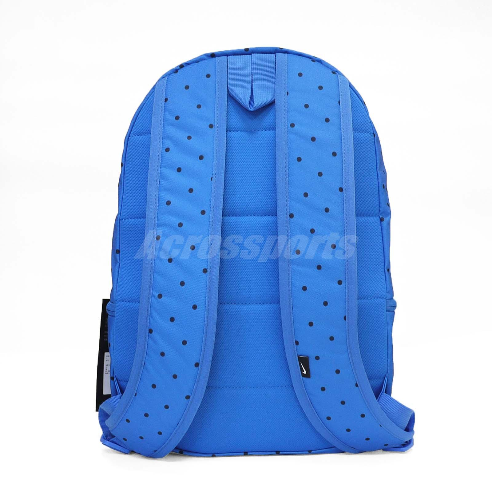 5955304e2a76 Details about Nike Sportswear Heritage Printed Backpack Dot Sport Training  Bag Blue BA5761-403