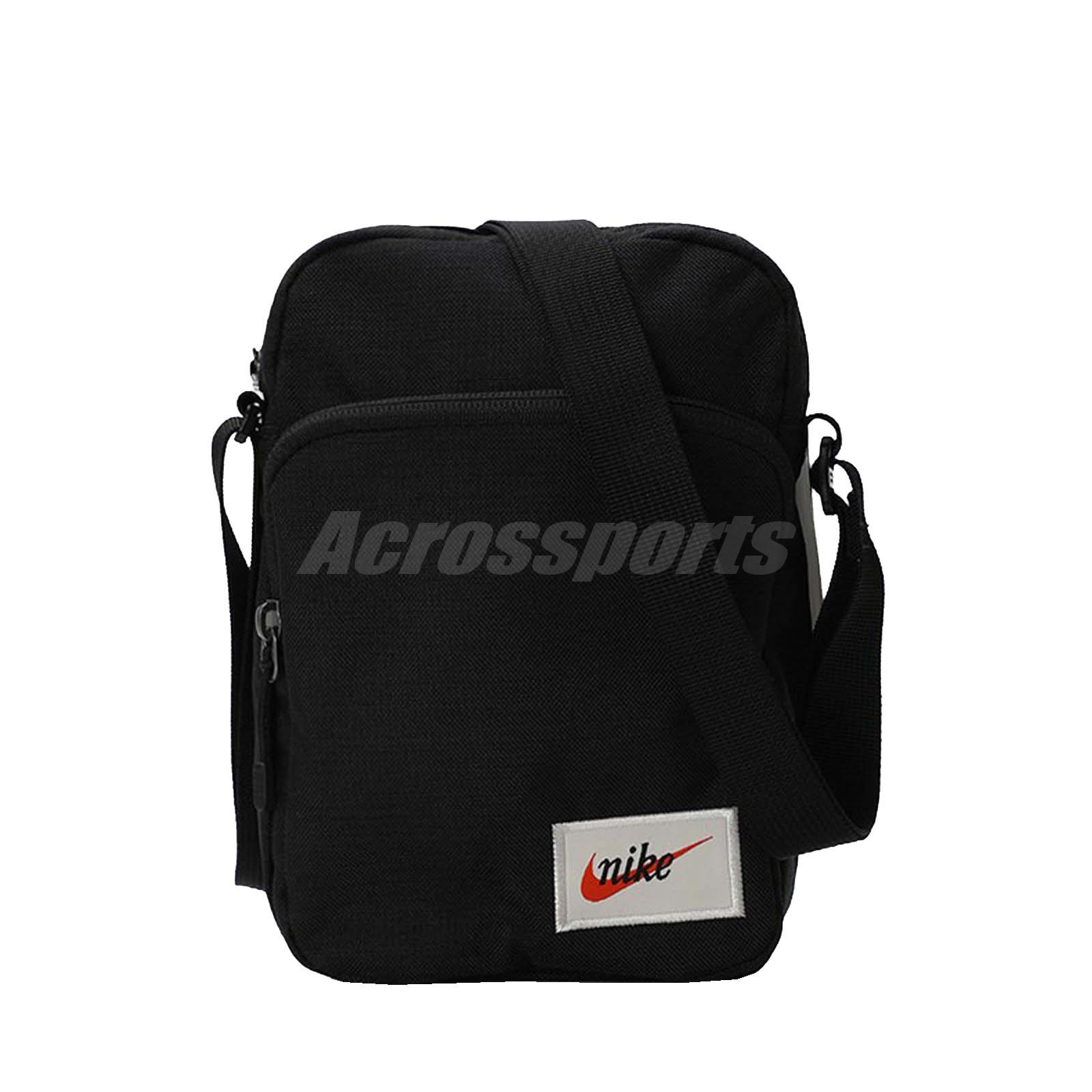 ed287dc9c24 Details about Nike Heritage Smit Label Mini Messenger Bag Swoosh Running  Gym Black BA5809-010
