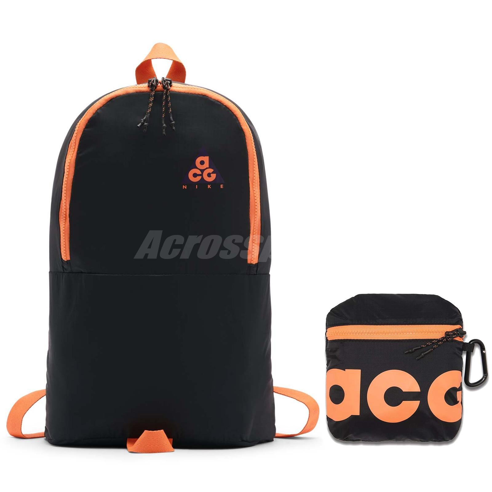 4475709a09 Details about Nike ACG Packable Backpack NSW Bag Workout Running Bright  Mandarin BA5841-537