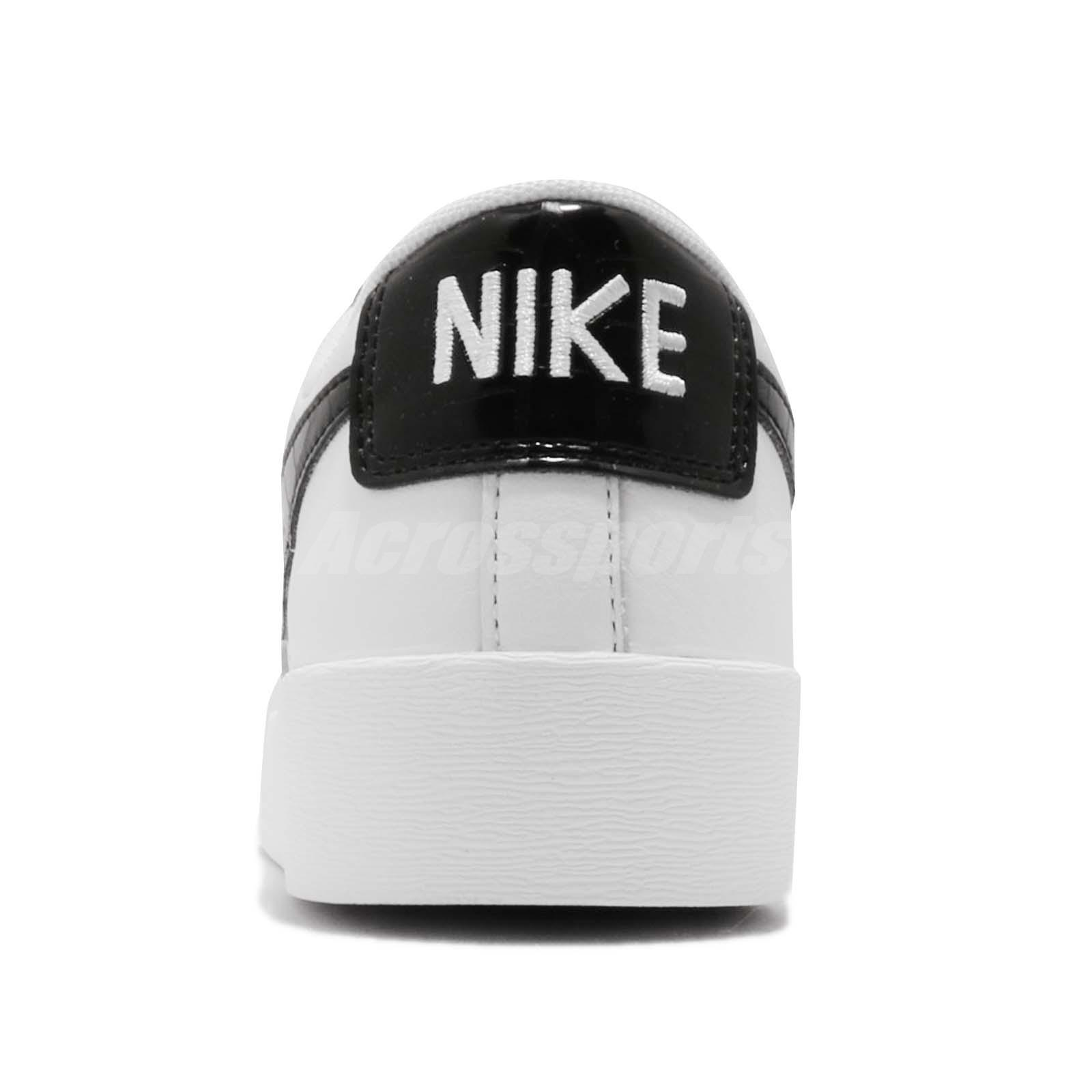 e69e4a15a510 Nike Wmns Blazer Low White Black Women Casual Lifestyle Shoes ...