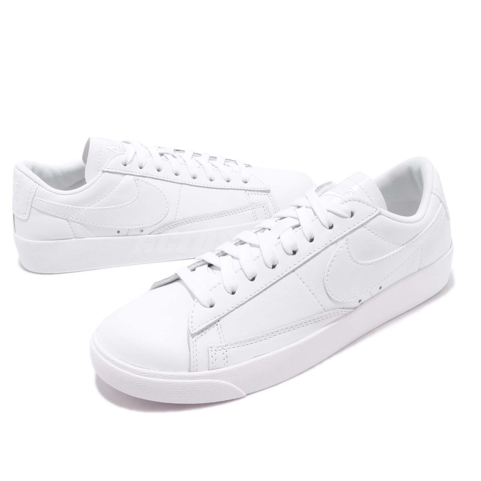 factory price f73a6 f9d9d Details about Nike Wmns Blazer Low Triple White Women Casual Shoes Sneakers  BQ0033-111