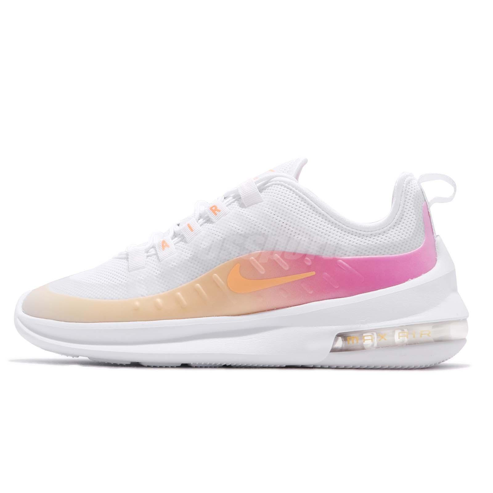 a few days away quality products best wholesaler Details about Nike Wmns Air Max Axis PREM White Melon Tint Laser Fuchsia  Women Shoe BQ0126-101