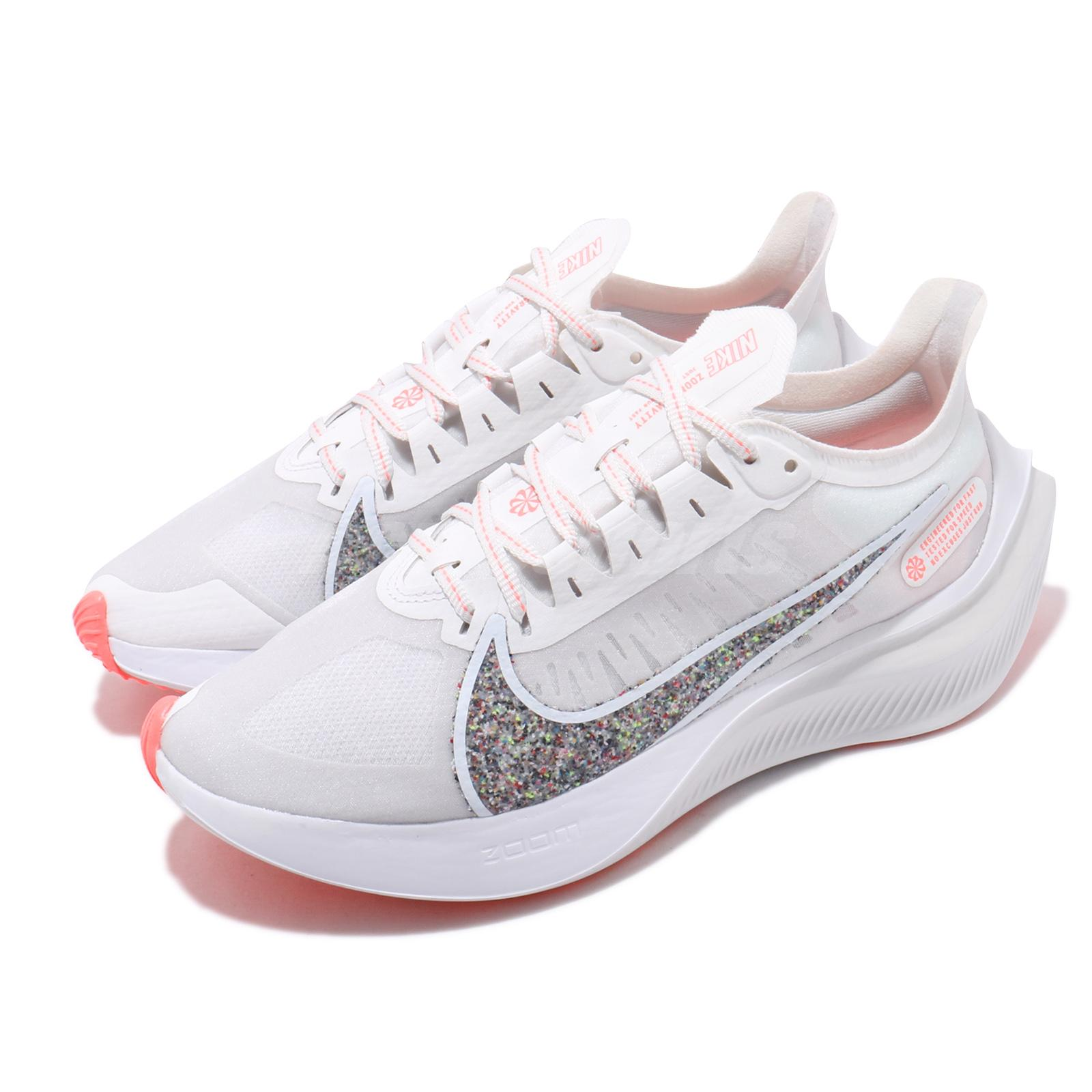Details about Nike Wmns Zoom Gravity White Grey Coral Women Running Shoes  Sneakers BQ3203-101
