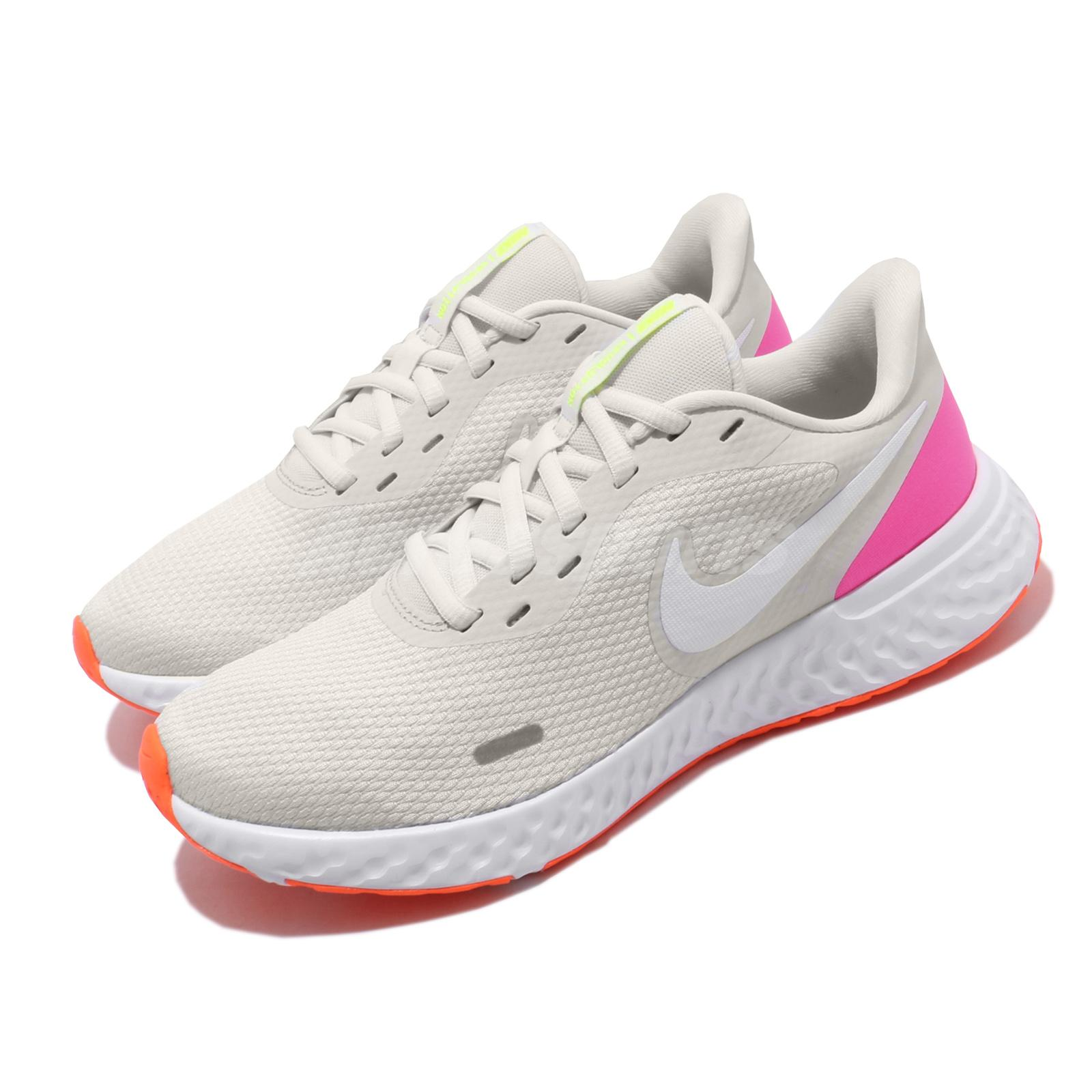 zoo Leeds tal vez  Nike Wmns Revolution 5 Grey White Pink Womens Running Shoes BQ3207-007 |  eBay