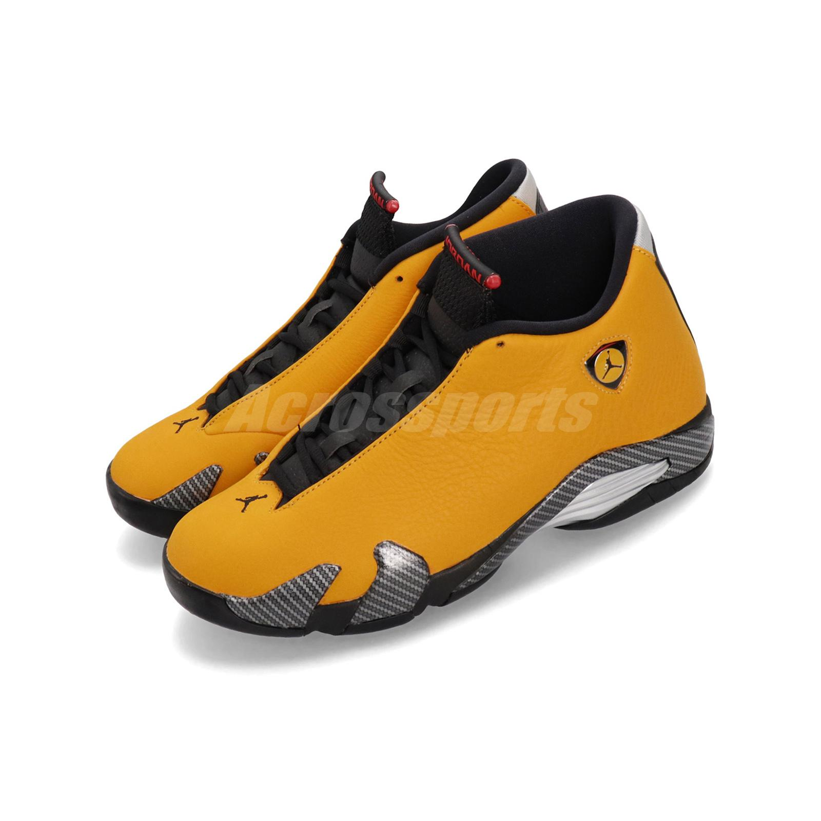 huge selection of 92134 6e170 Details about Nike Air Jordan 14 Retro SE XIV Reverse Ferrari Gold Black  Red Yellow BQ3685-706