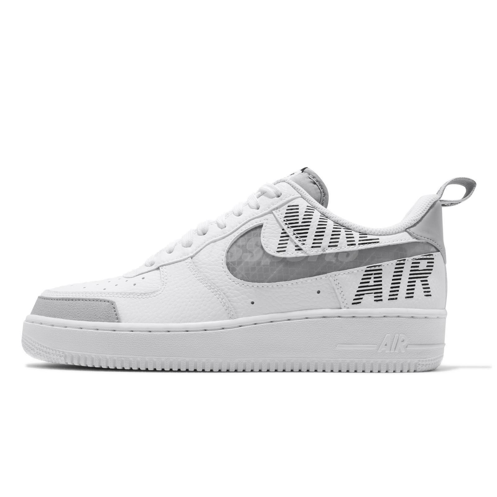 Details about Nike Air Force 1 07 LV8 2 AF1 Under Construction White Grey  Men Shoes BQ4421-100