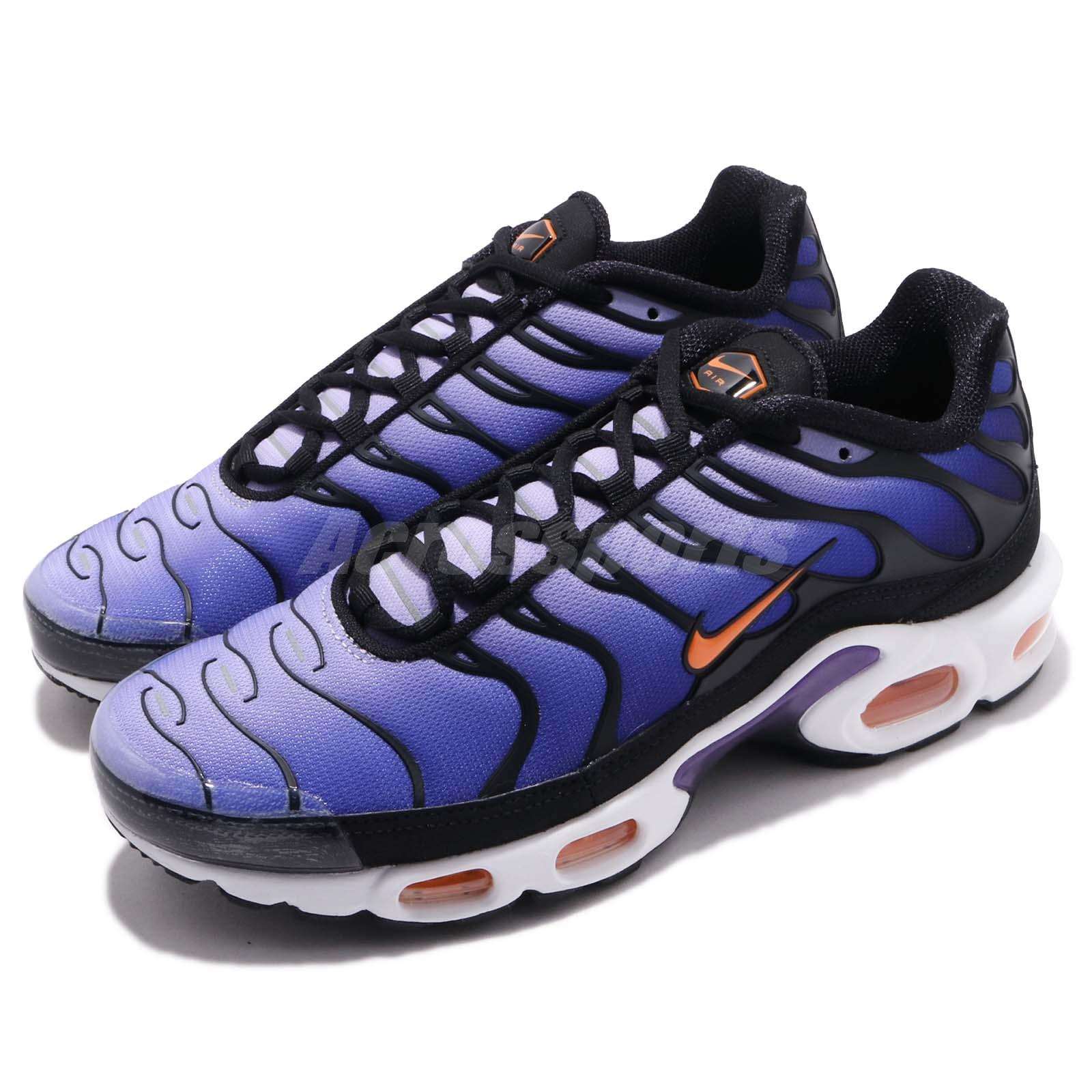 best website 79a17 98d64 Details about Nike Air Max Plus OG Voltage Purple Black Orange Mens Running  Shoes BQ4629-002