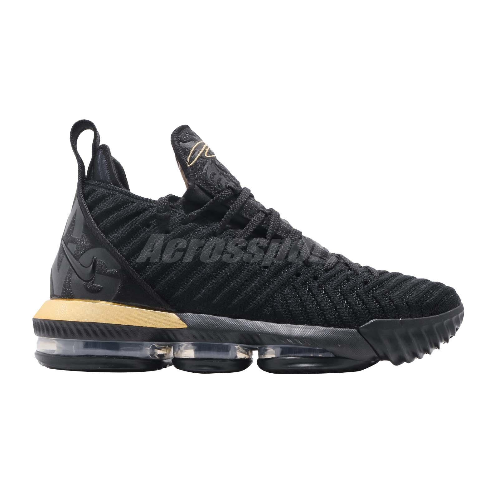 c40e701e32915 Nike LeBron XVI EP 16 Im I Am King James LBJ Black Gold Men Shoes ...