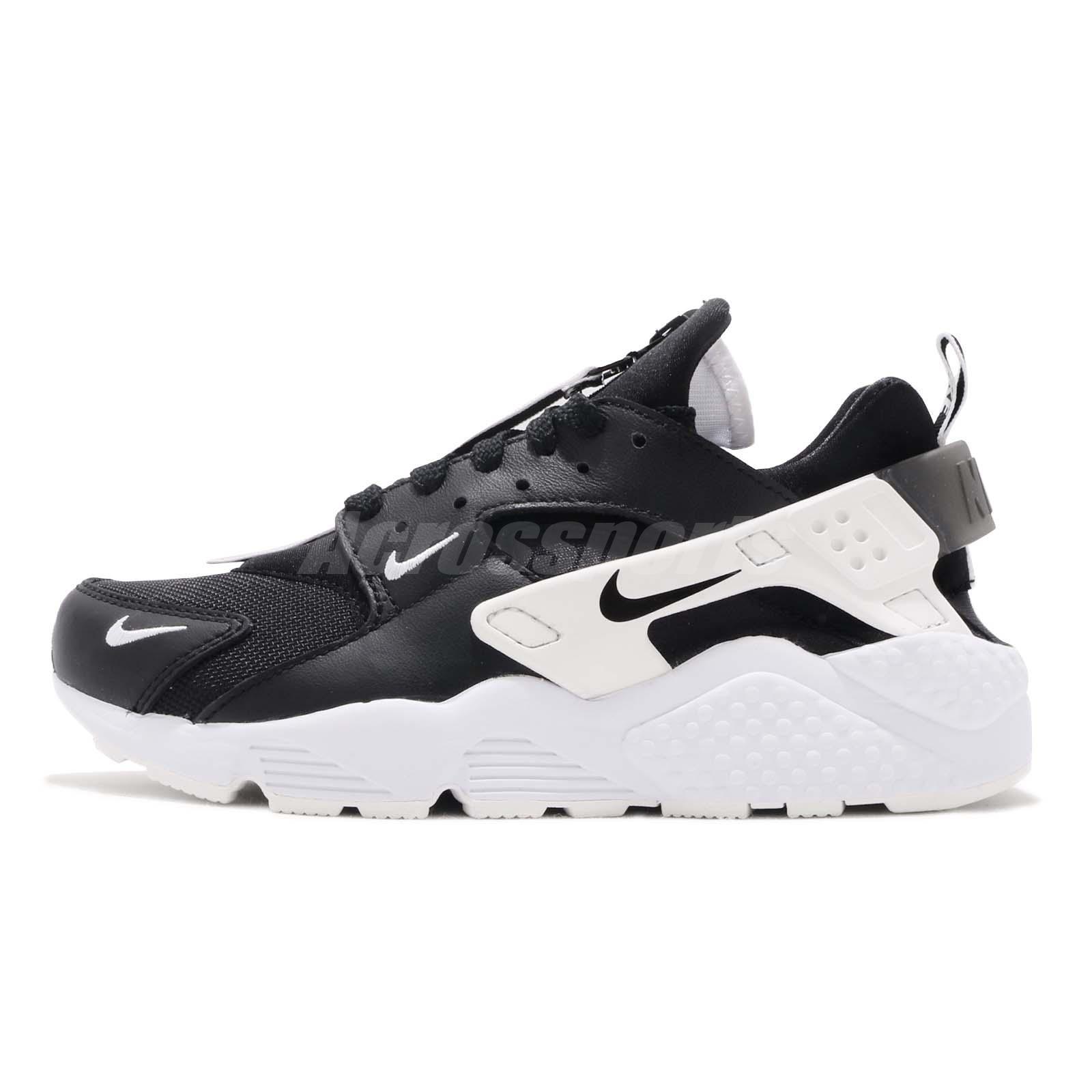 cc43c94dbf18 Nike Air Huarache Run PRM Zip Black White Men Casual Shoes Sneakers BQ6164- 001