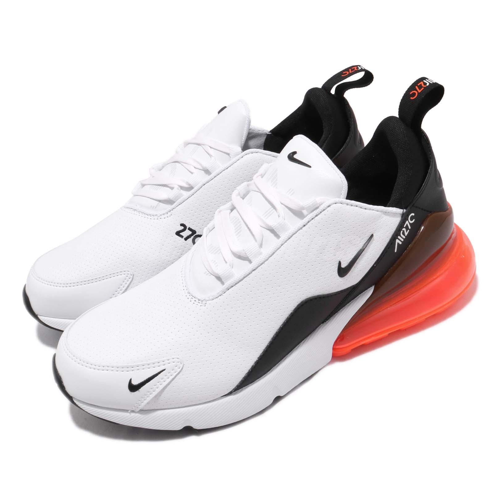 buy popular 8c410 d709d Details about Nike Air Max 270 PRM LEA Leather White Black Hyper Crimson  Men Shoes BQ6171-100