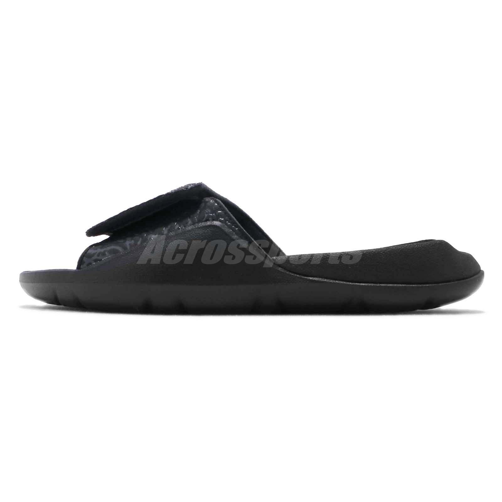 9806bf8ddf7387 Nike Jordan Hydro 7 V2 Black Gold Men Sports Sandals Slides Slippers ...