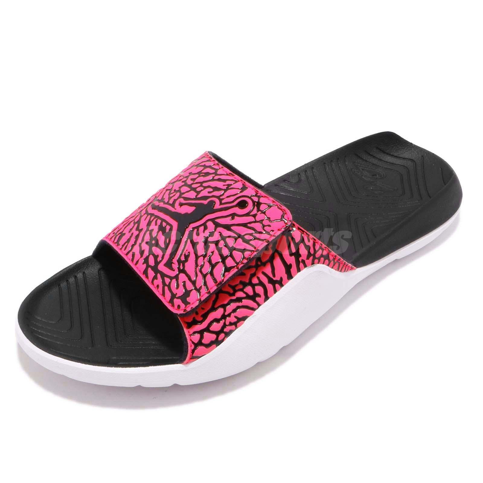 d1ae41473 Nike Jordan Hydro 7 V2 Black Pink Men Sports Sandals Slides Slippers  BQ6290-061