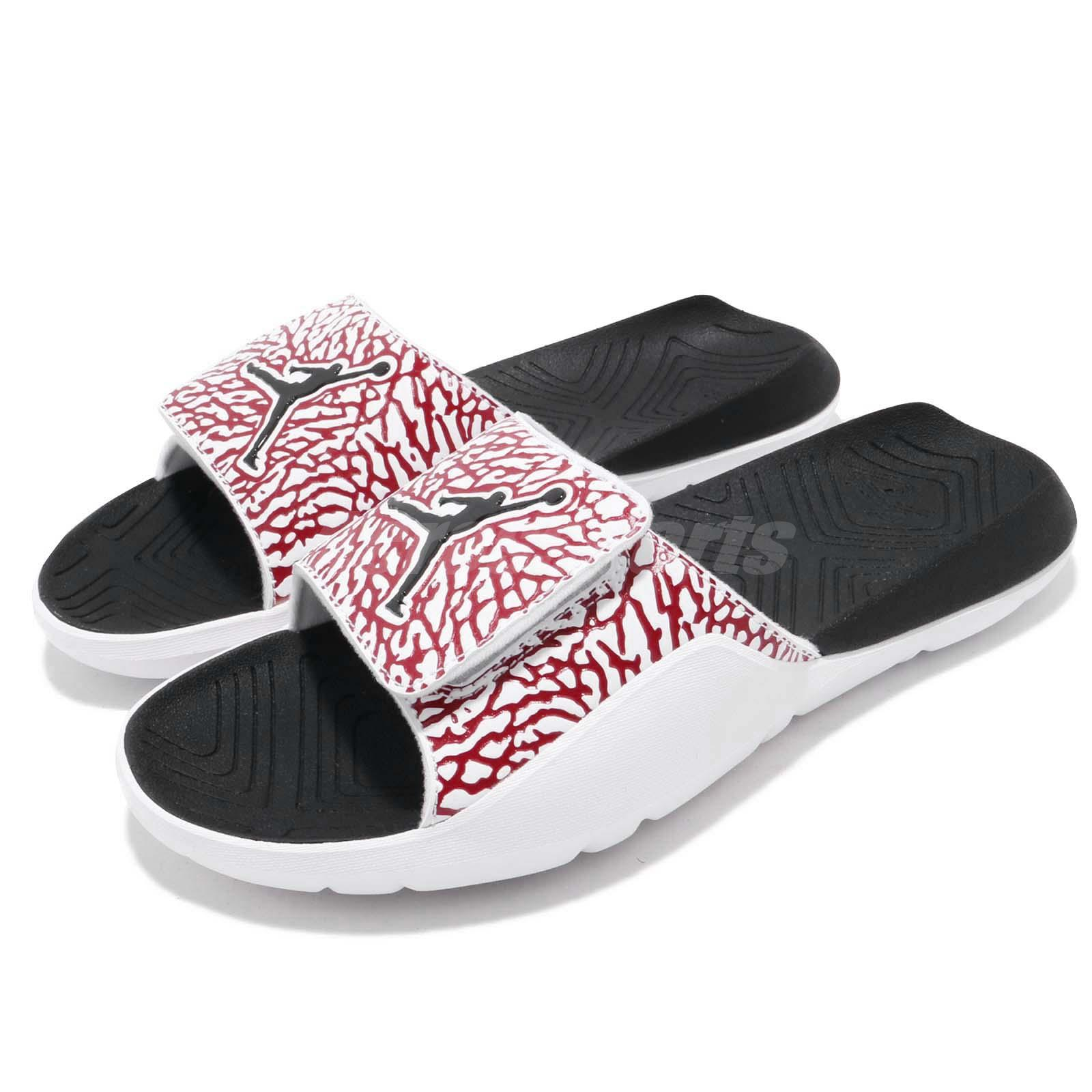 new style 4be43 c50ae Details about Nike Jordan Hydro 7 V2 White Red Men Sports Sandals Slides  Slippers BQ6290-106