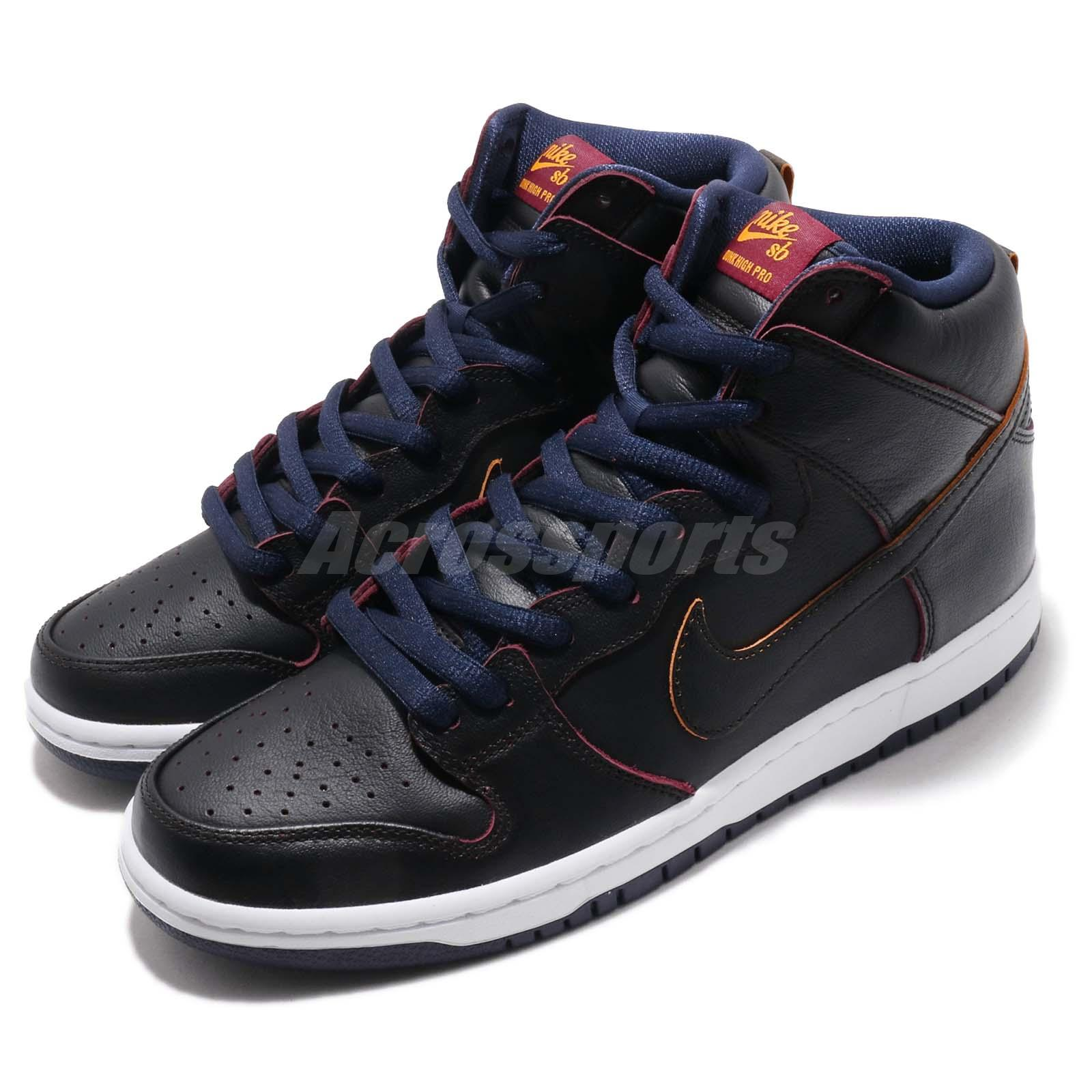 5815c507306790 Nike SB Dunk High Pro NBA Cleveland Cavaliers Black Navy Cavs Shoes ...