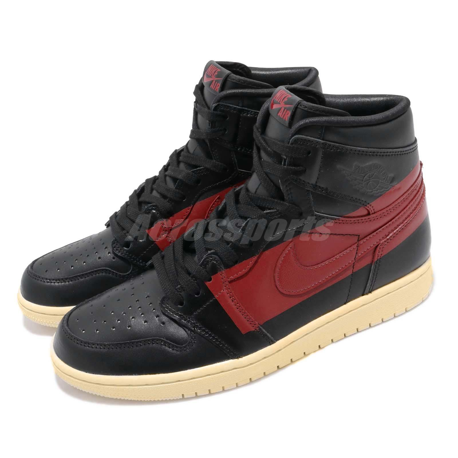 493fb7008fd Details about Nike Air Jordan 1 Retro High OG Defiant Couture Black Red Bred  Banned BQ6682-006